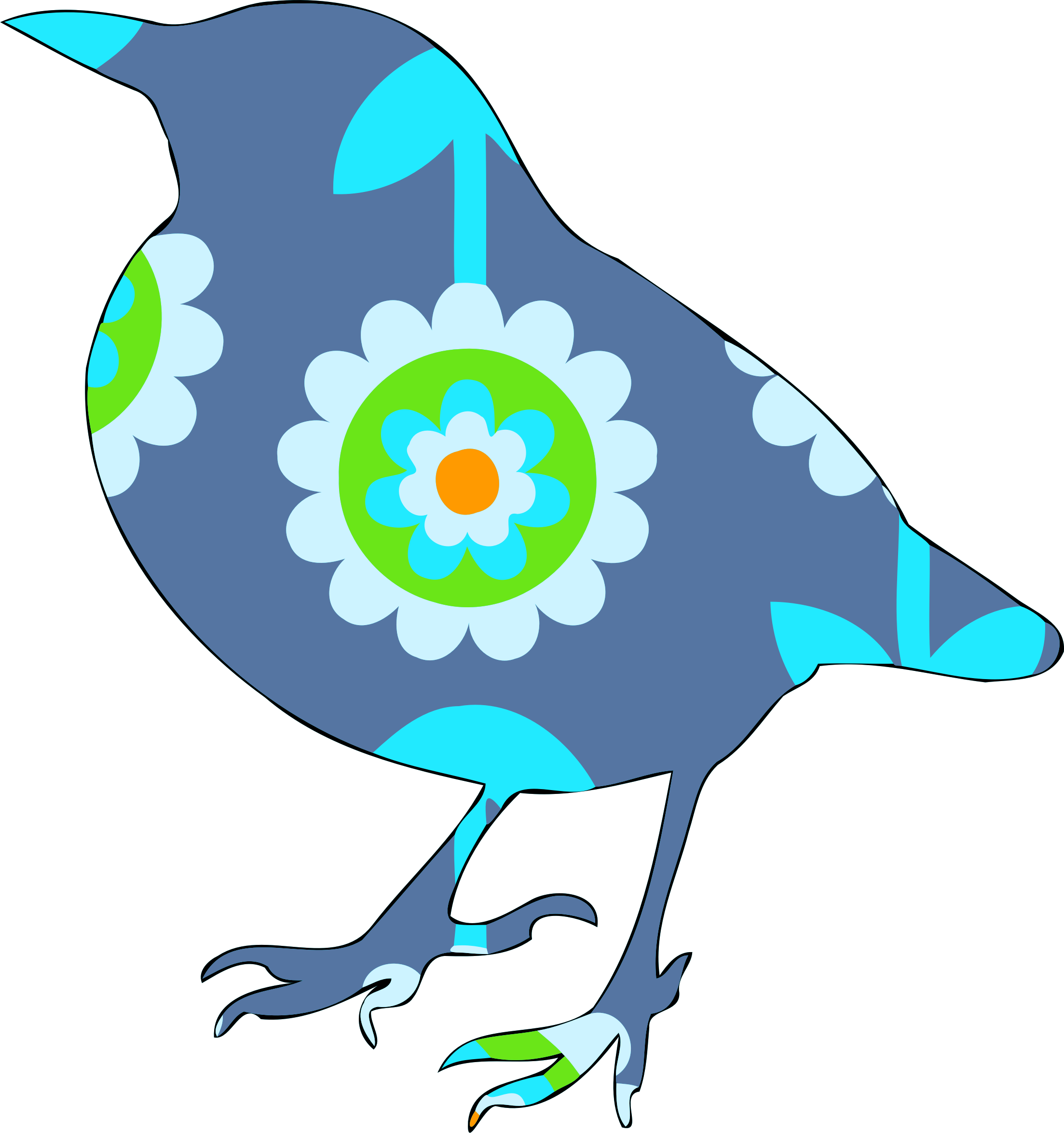 Floral bird 1 by Firkin