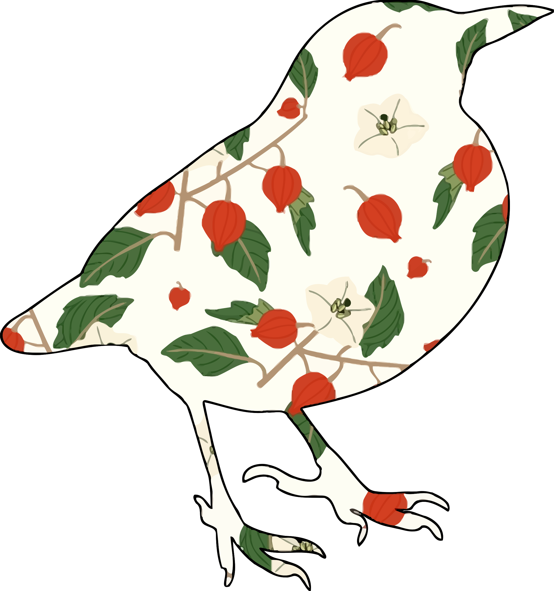 Floral bird 4 by Firkin