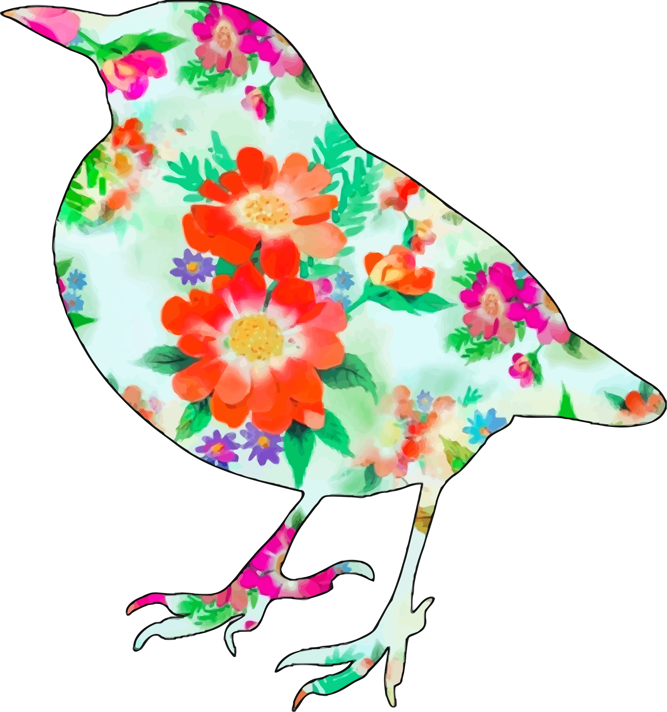 Floral bird 2 by Firkin