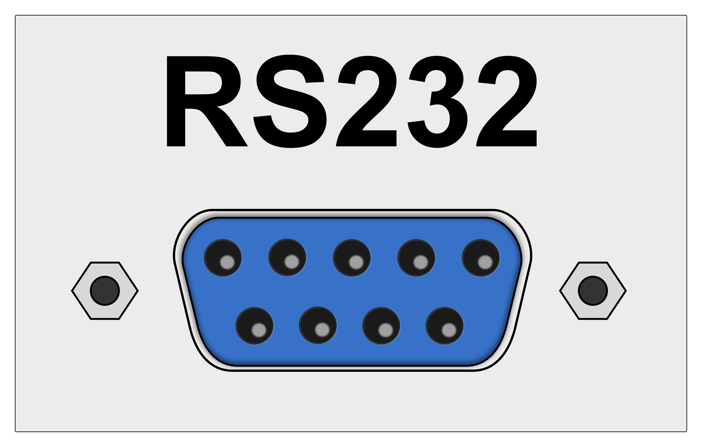 RS232 / COM port connector by Juhele