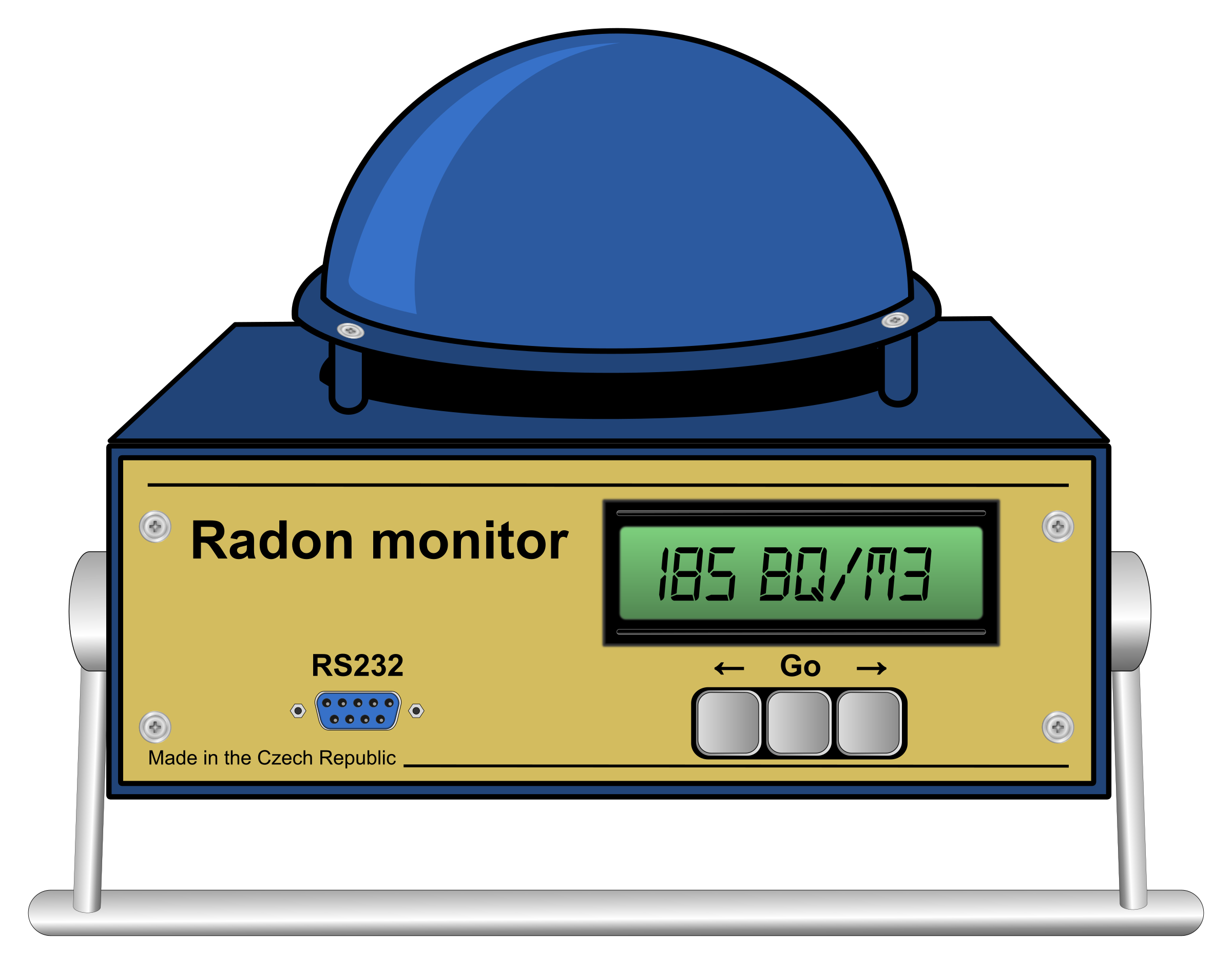 Continuous radon monitor by Juhele