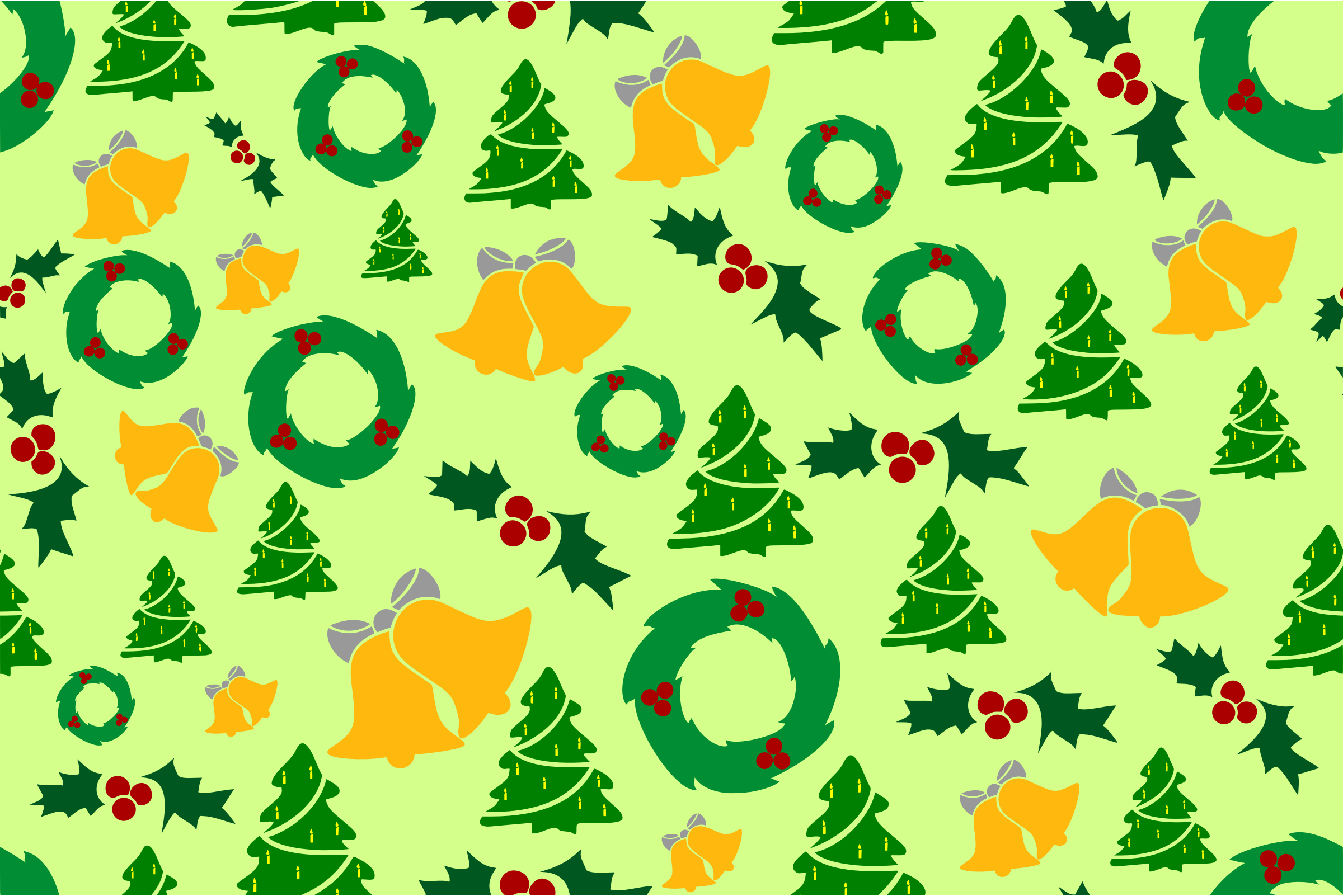 Christmas pattern (colour) by Firkin