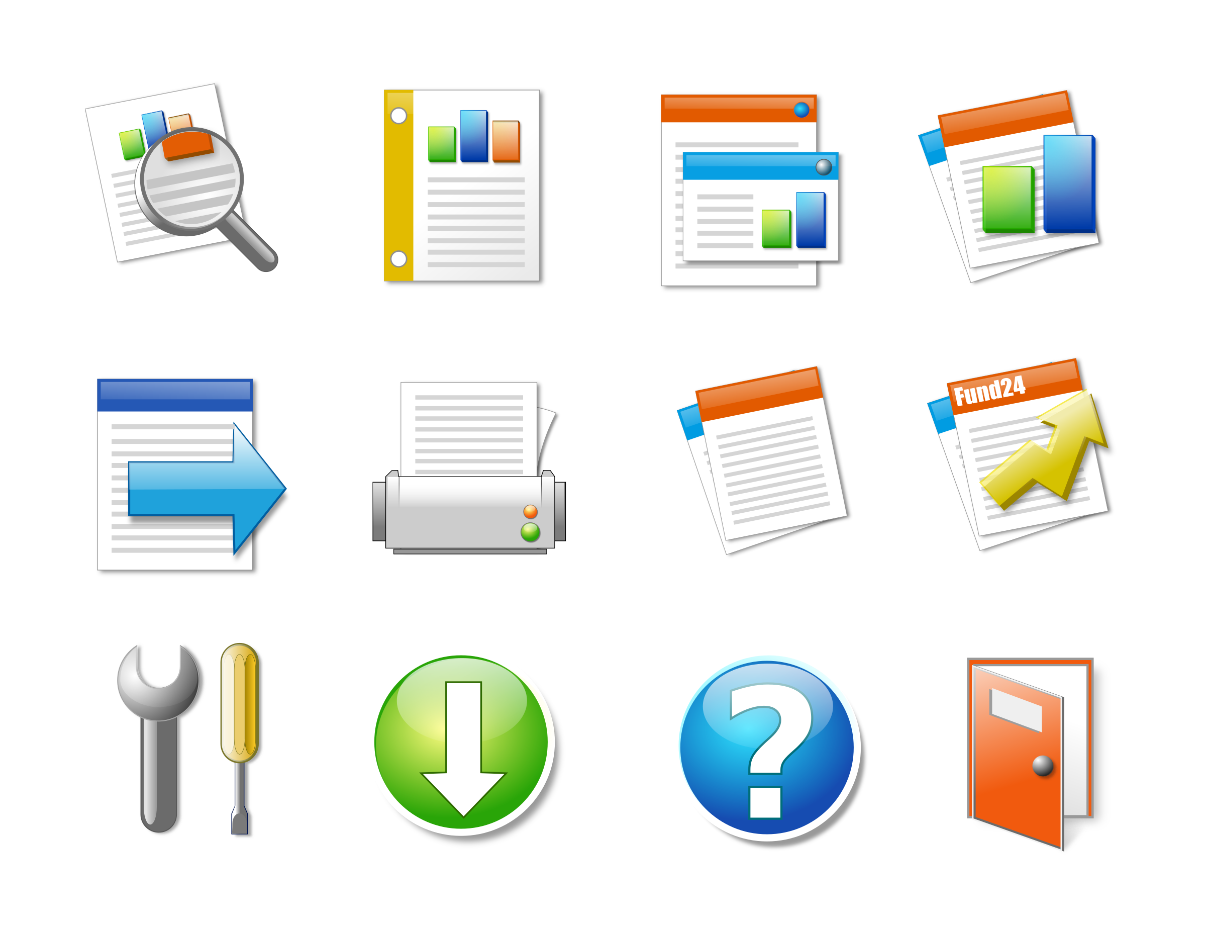 Icon Set Office Candy by sieq