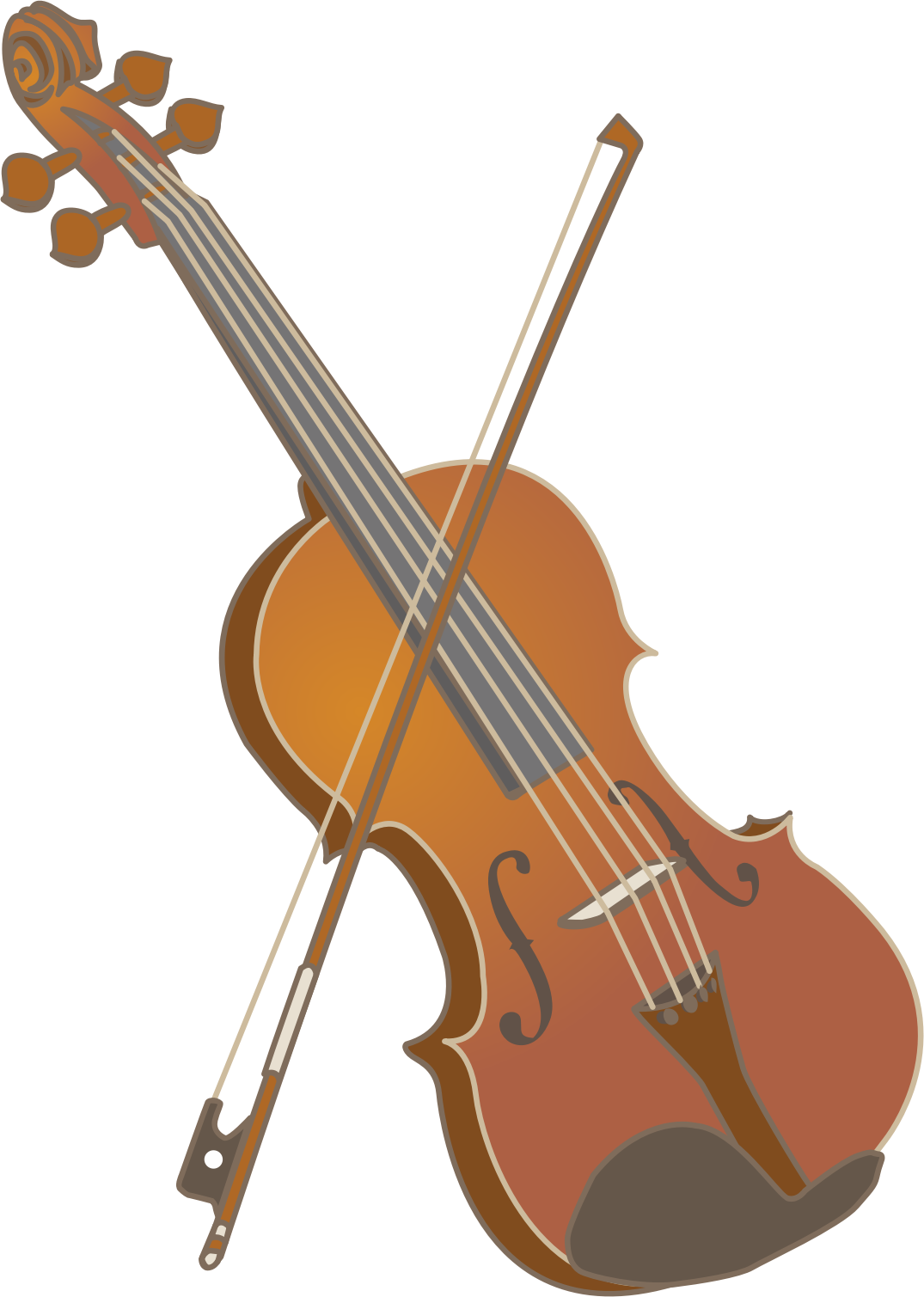 Violin and bow (#1) by oksmith