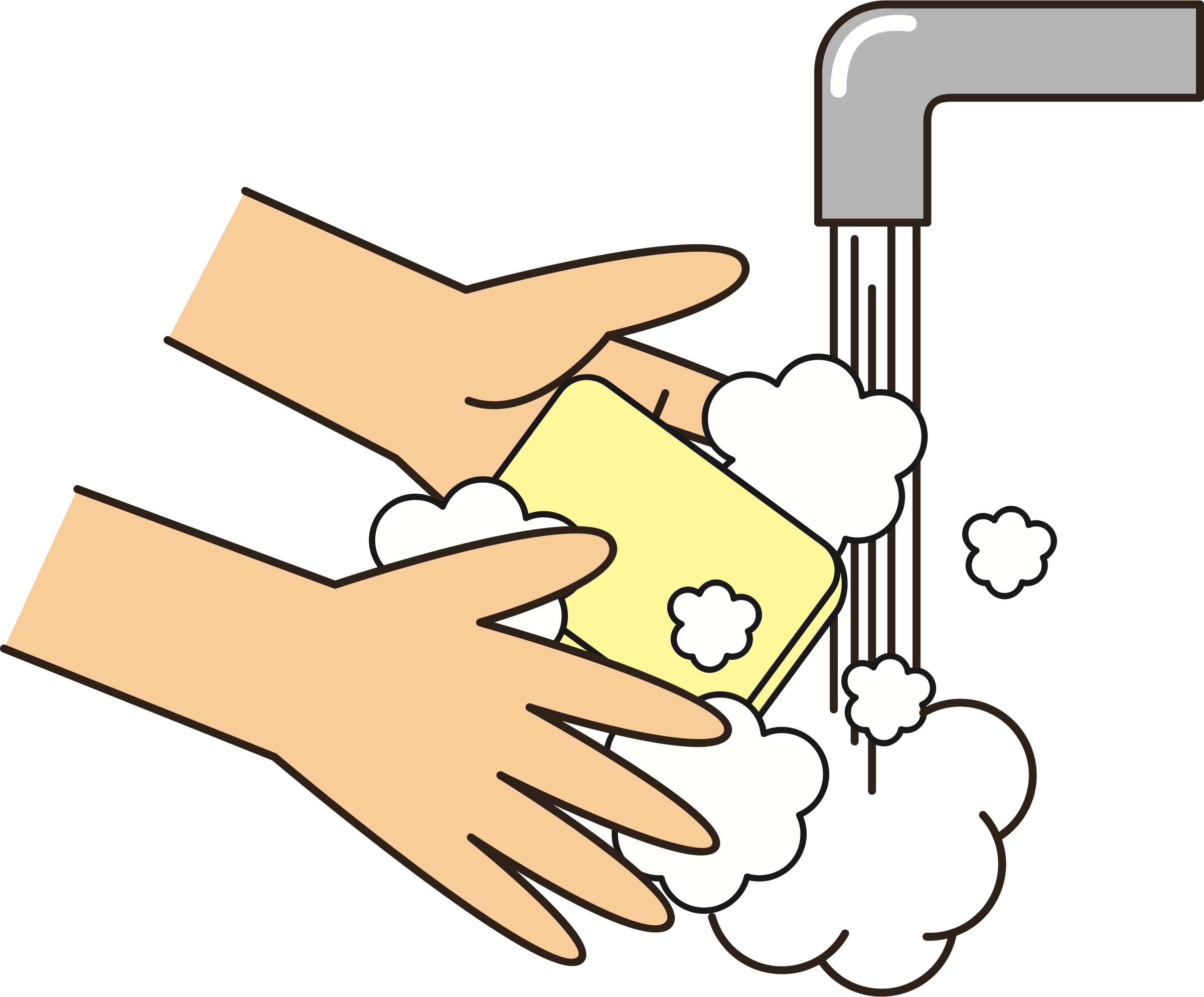 Clipart - Wash your hands (#1)