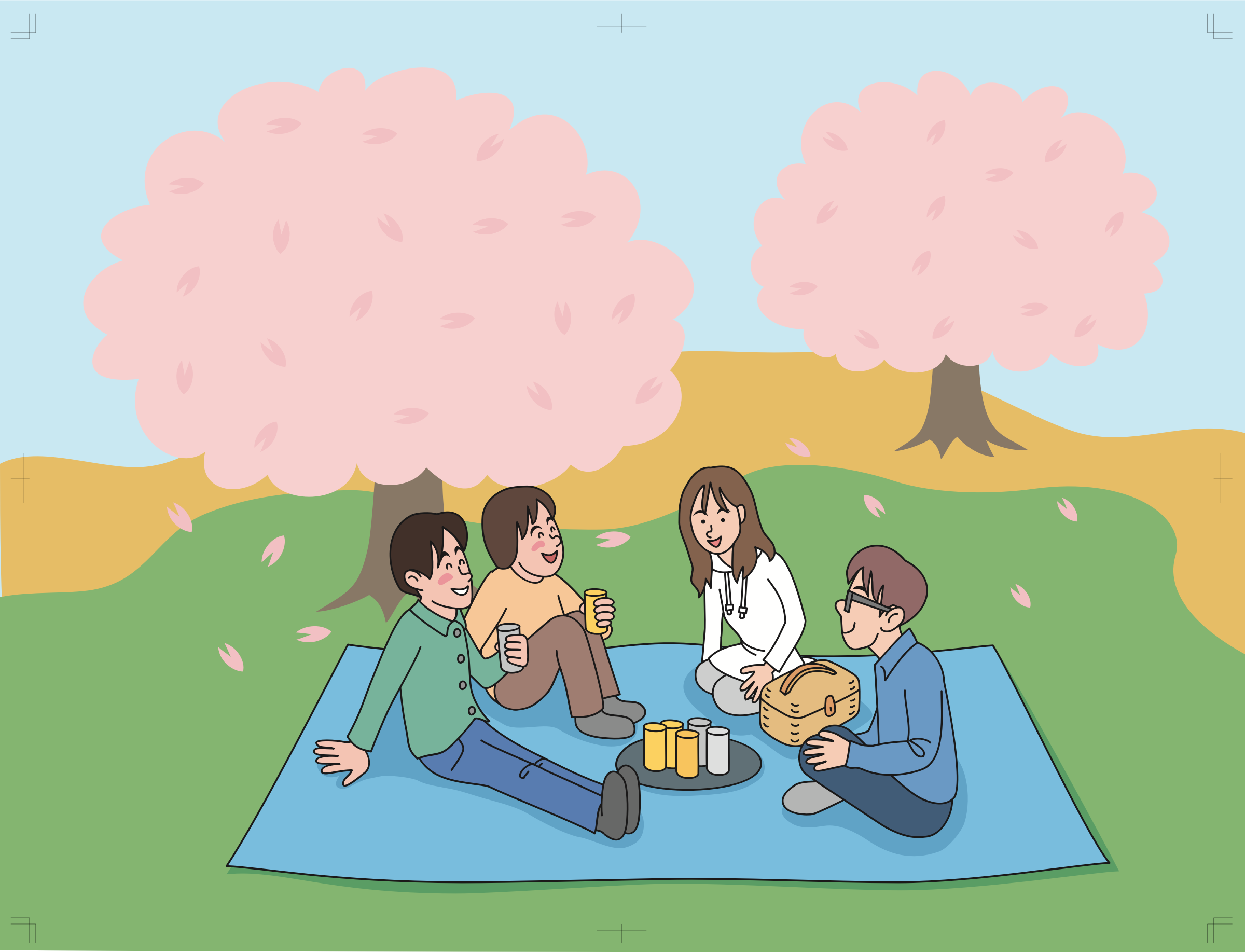 Cherry Blossom Picnic (#1) by oksmith