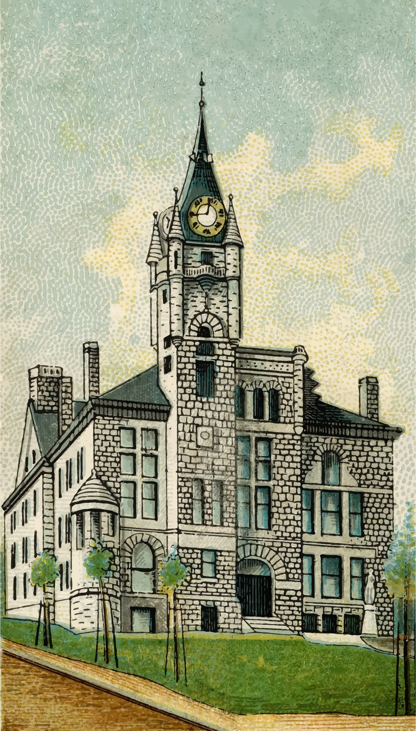 Cigarette Card - Montana Court House in Helena by Firkin