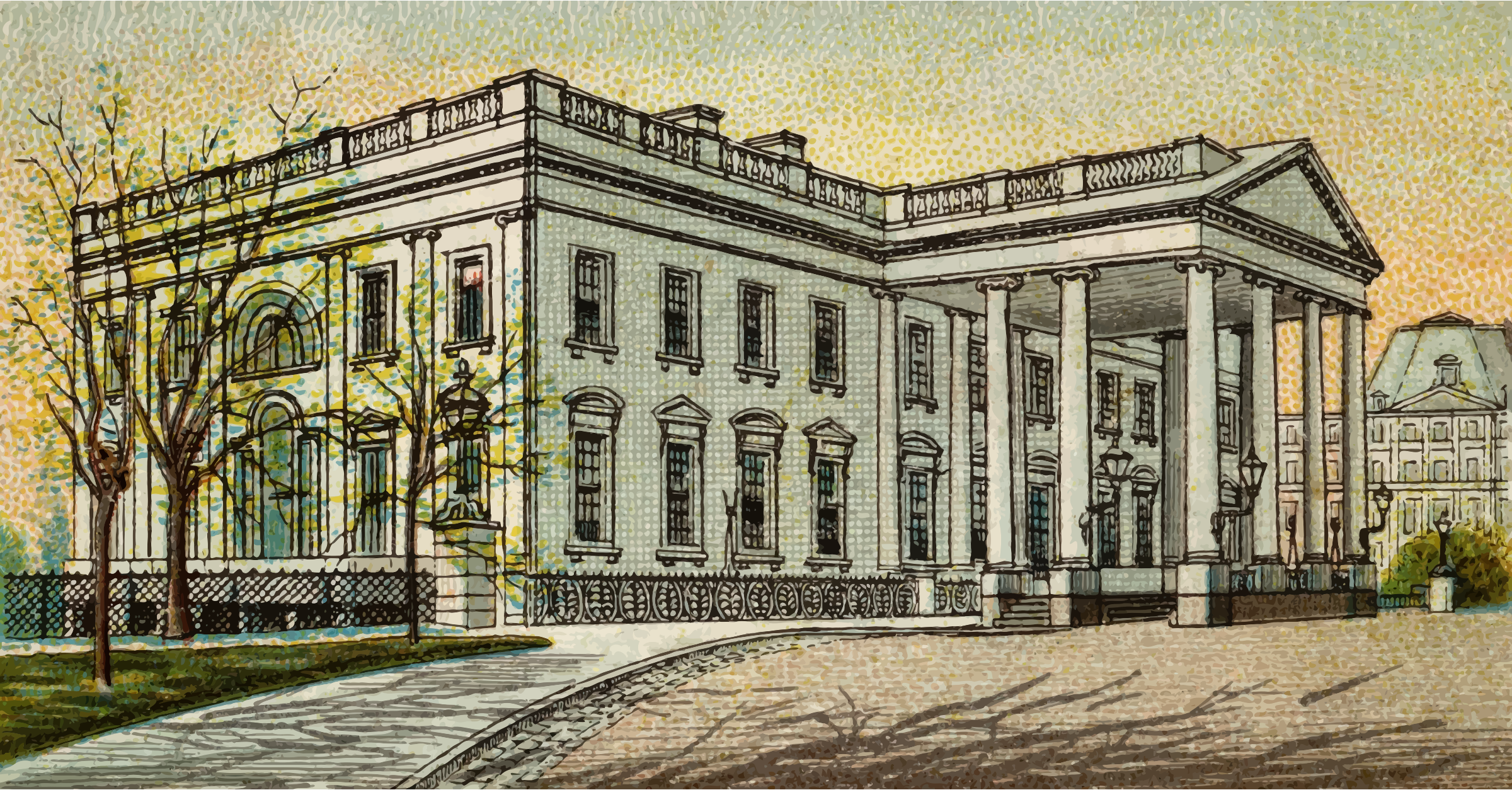 Cigarette Card - President's House in Washington by Firkin