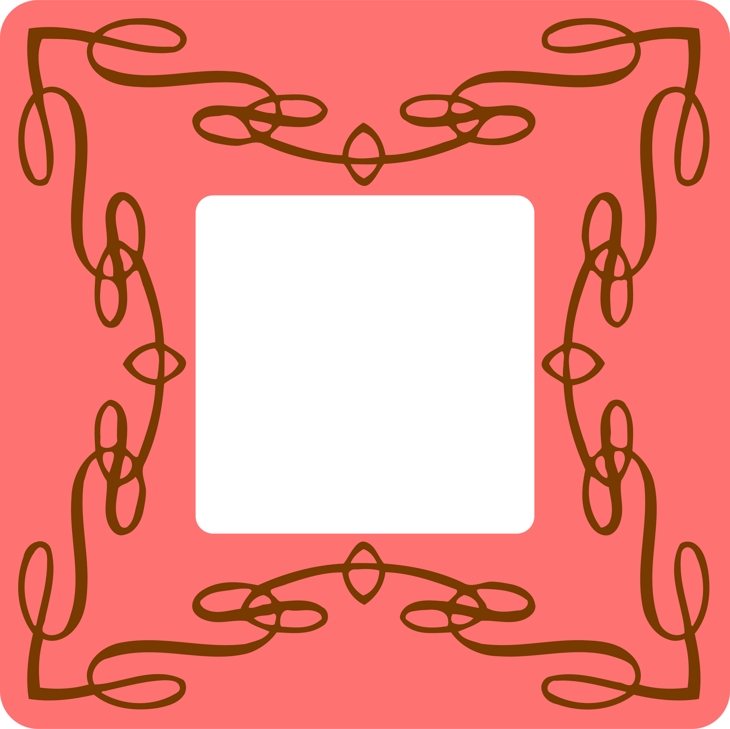 Flourish frame (colour) by Firkin