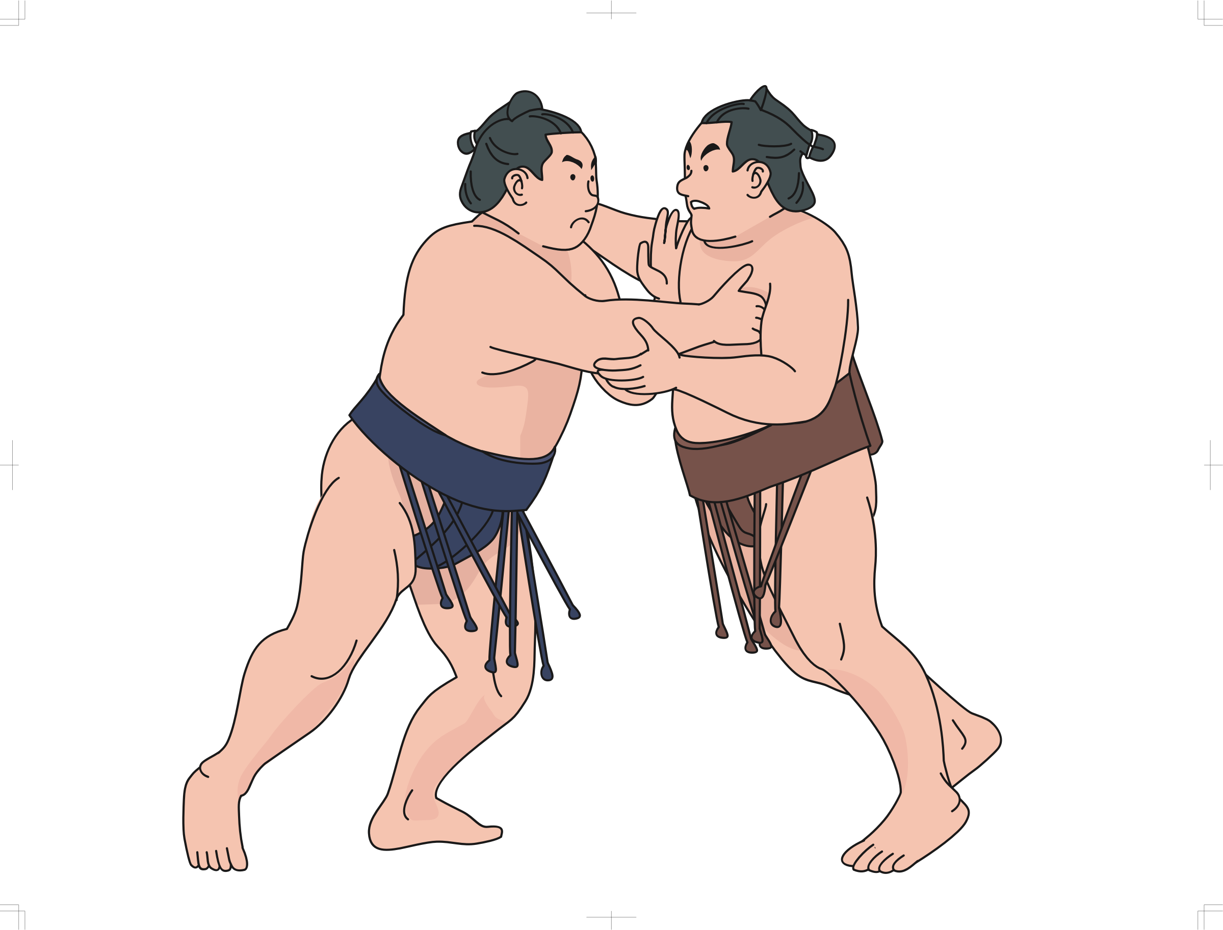 Sumo Wrestlers by oksmith