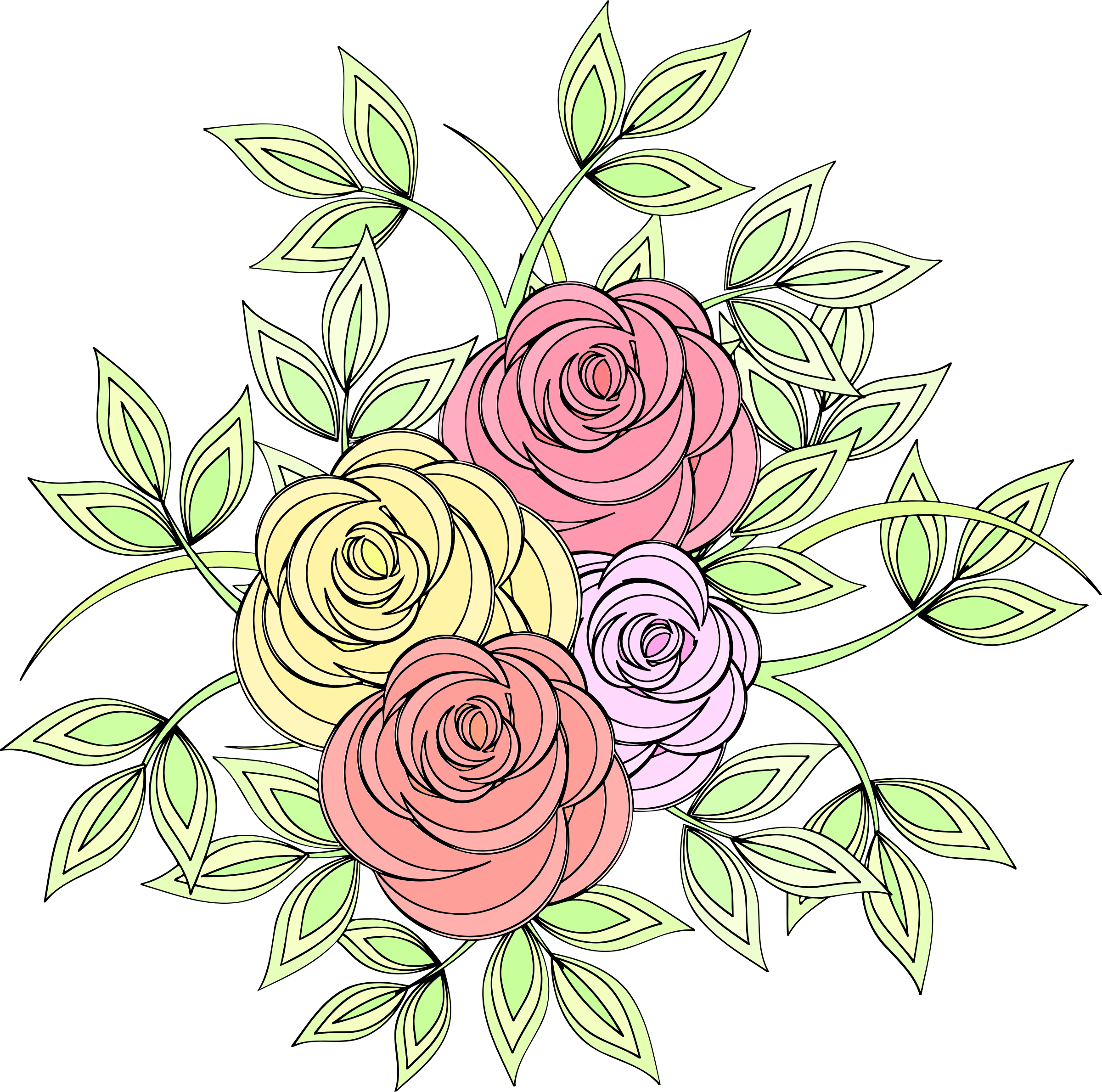 Roses 7 (colour 2) by Firkin
