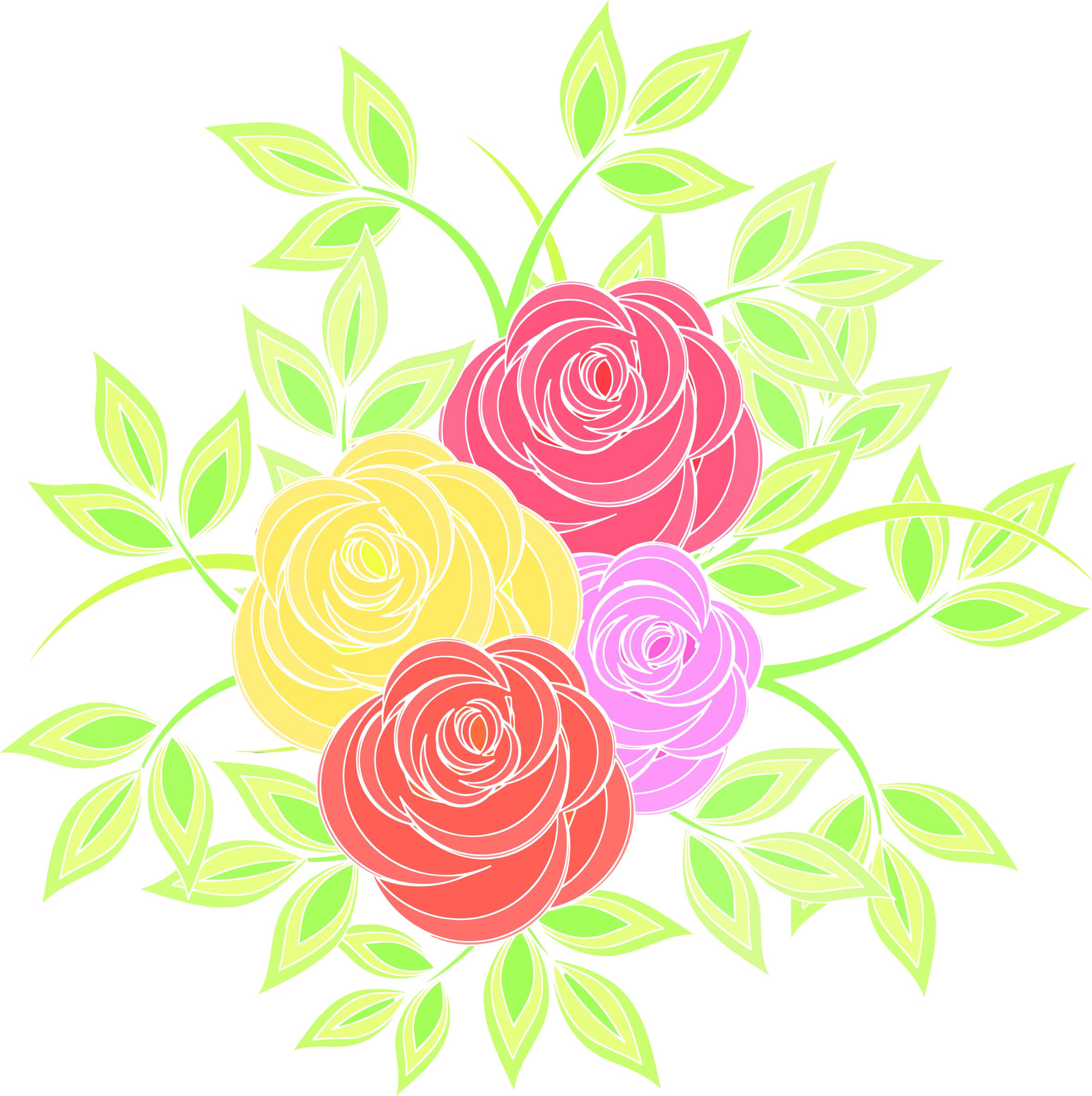 Roses 7 (colour 3) by Firkin