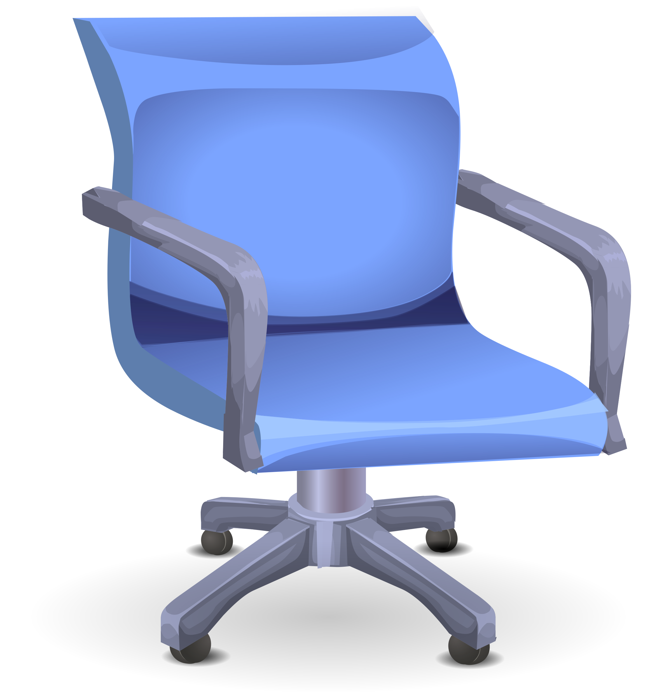 Blue office chair by anarres