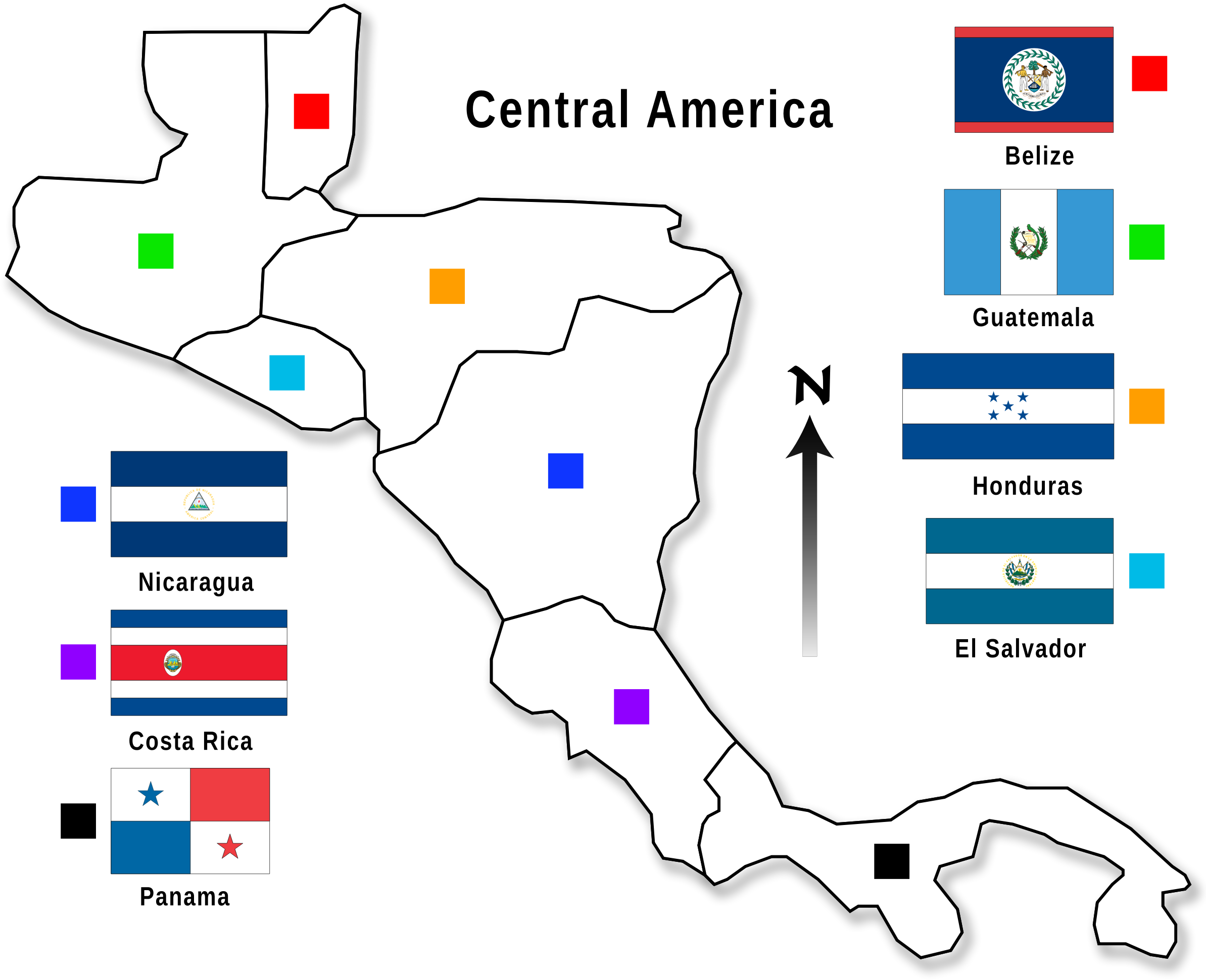 central america infographic by cactus cowboy