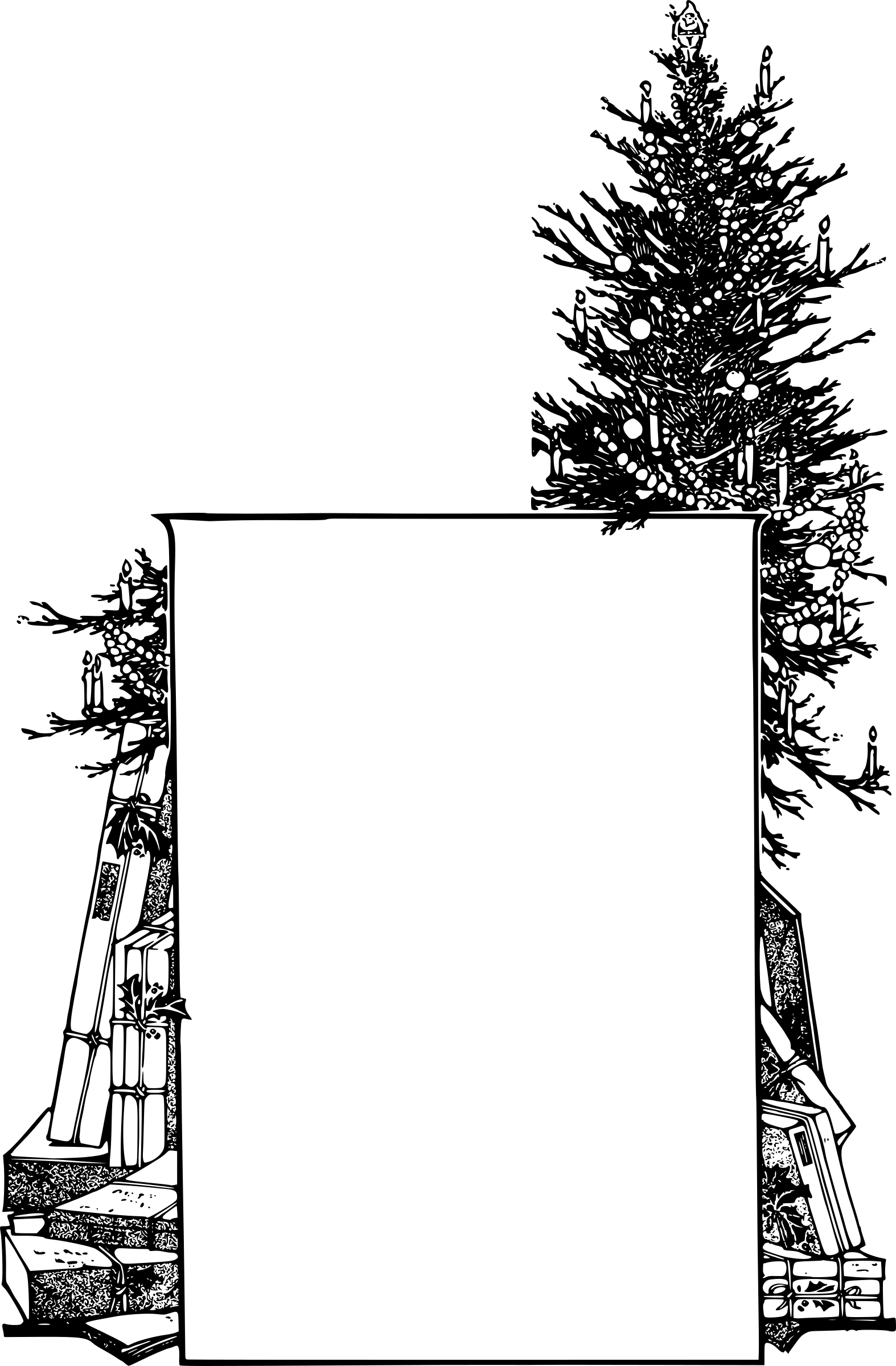 Clipart - Christmas Tree Frame