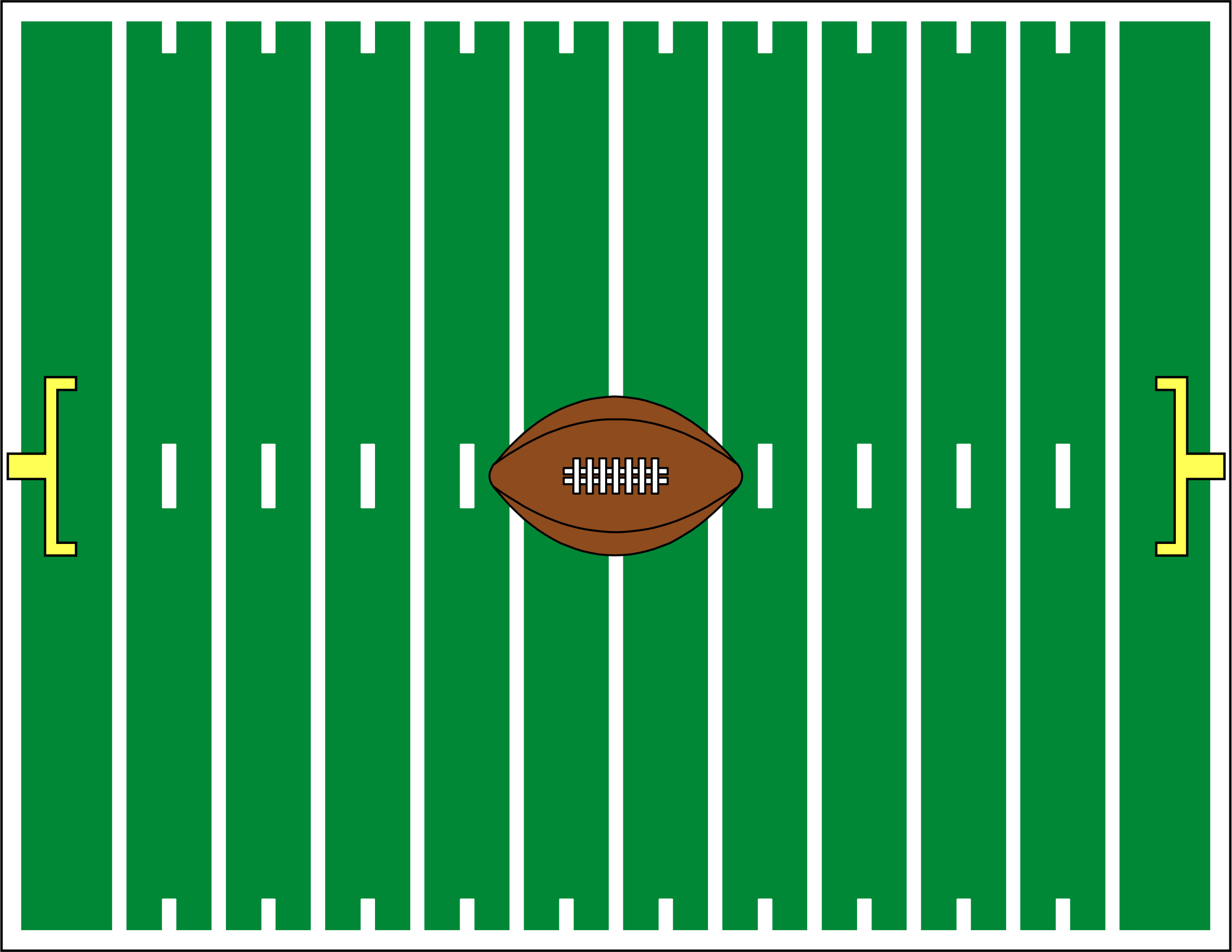 football gridiron by cactus cowboy