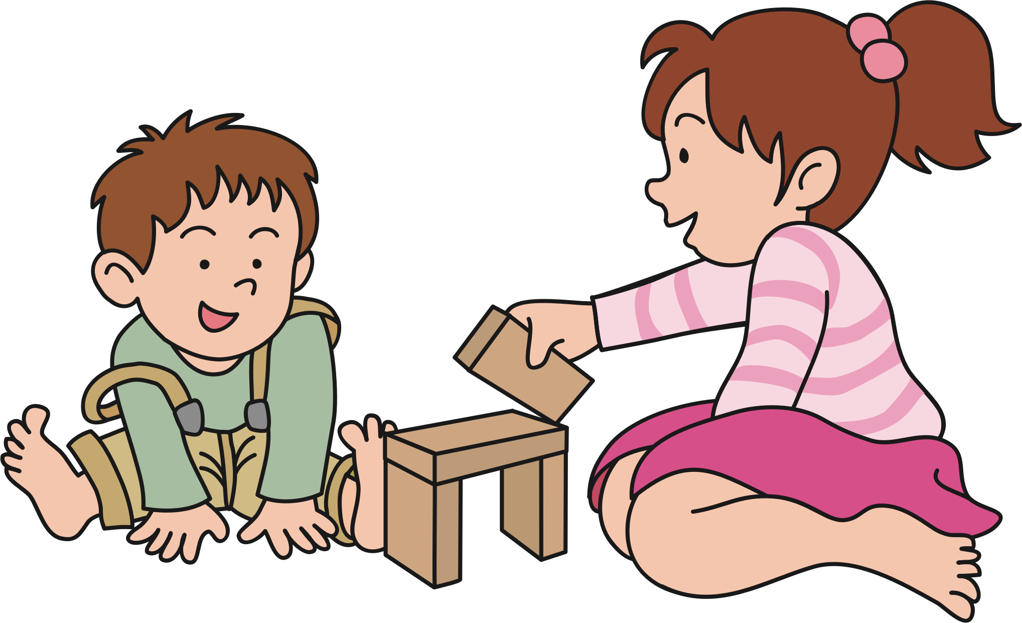 Clipart - Children Playing