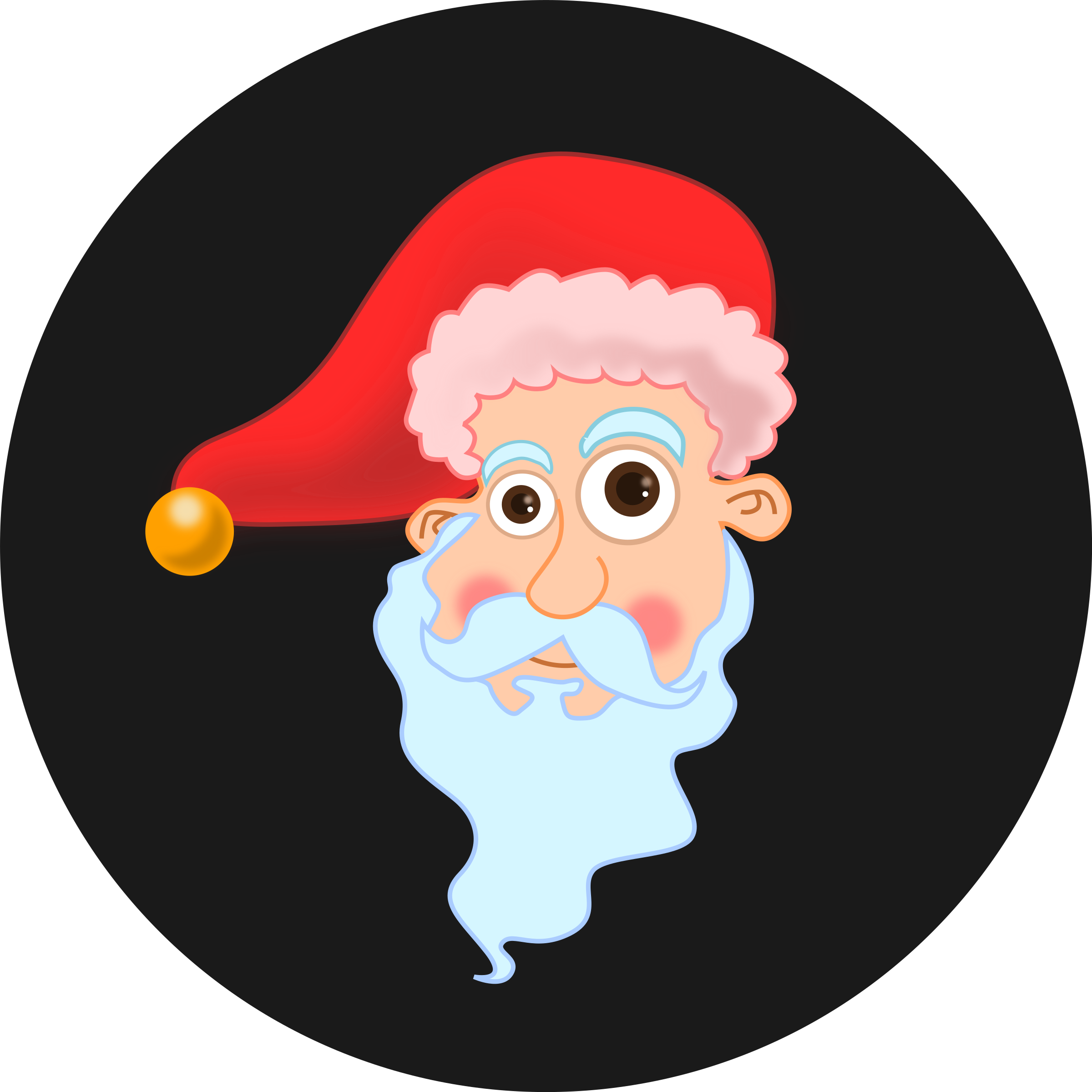 Santa Head by kablam