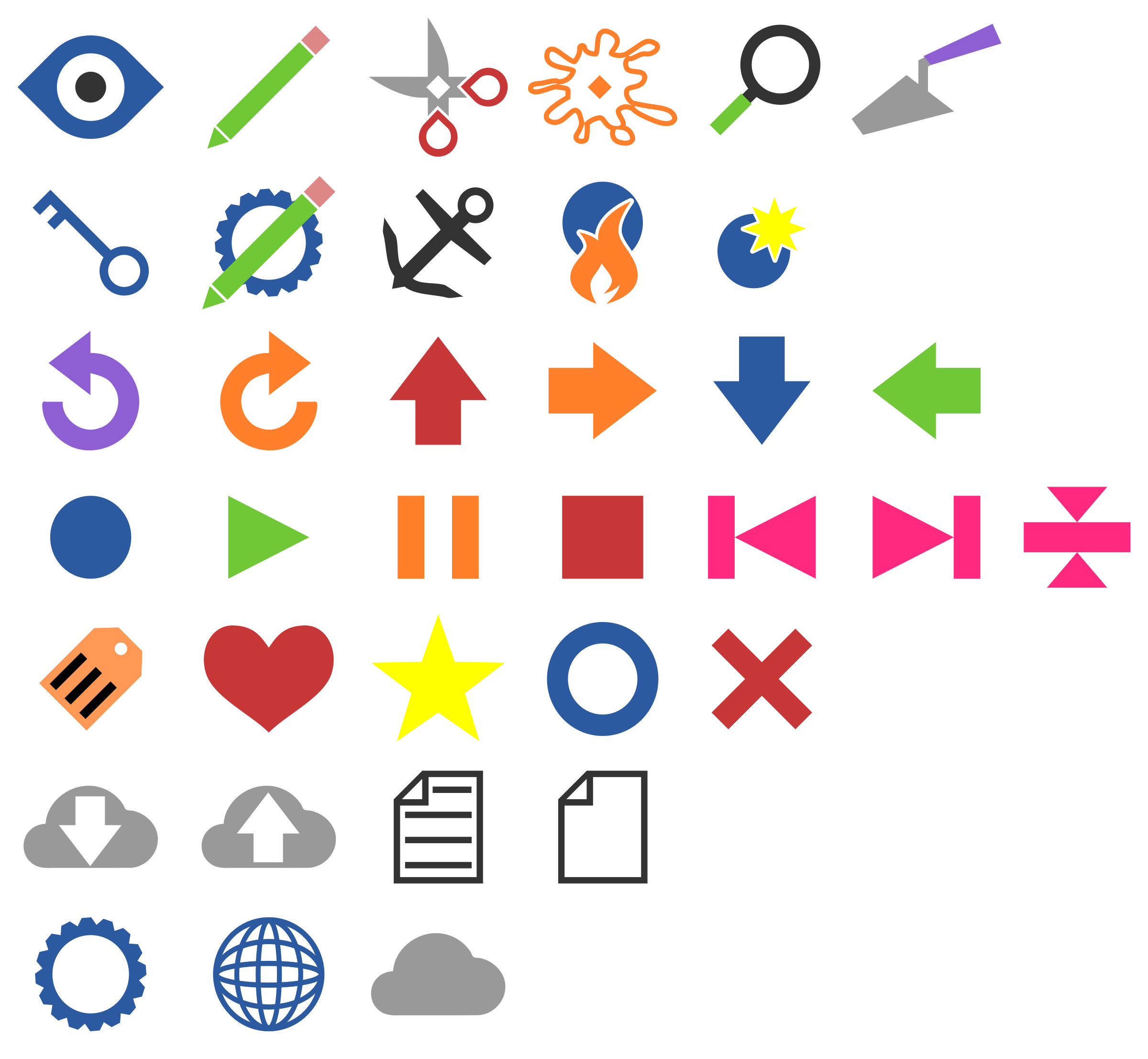 Minimally Colored Symbols by ihalseide