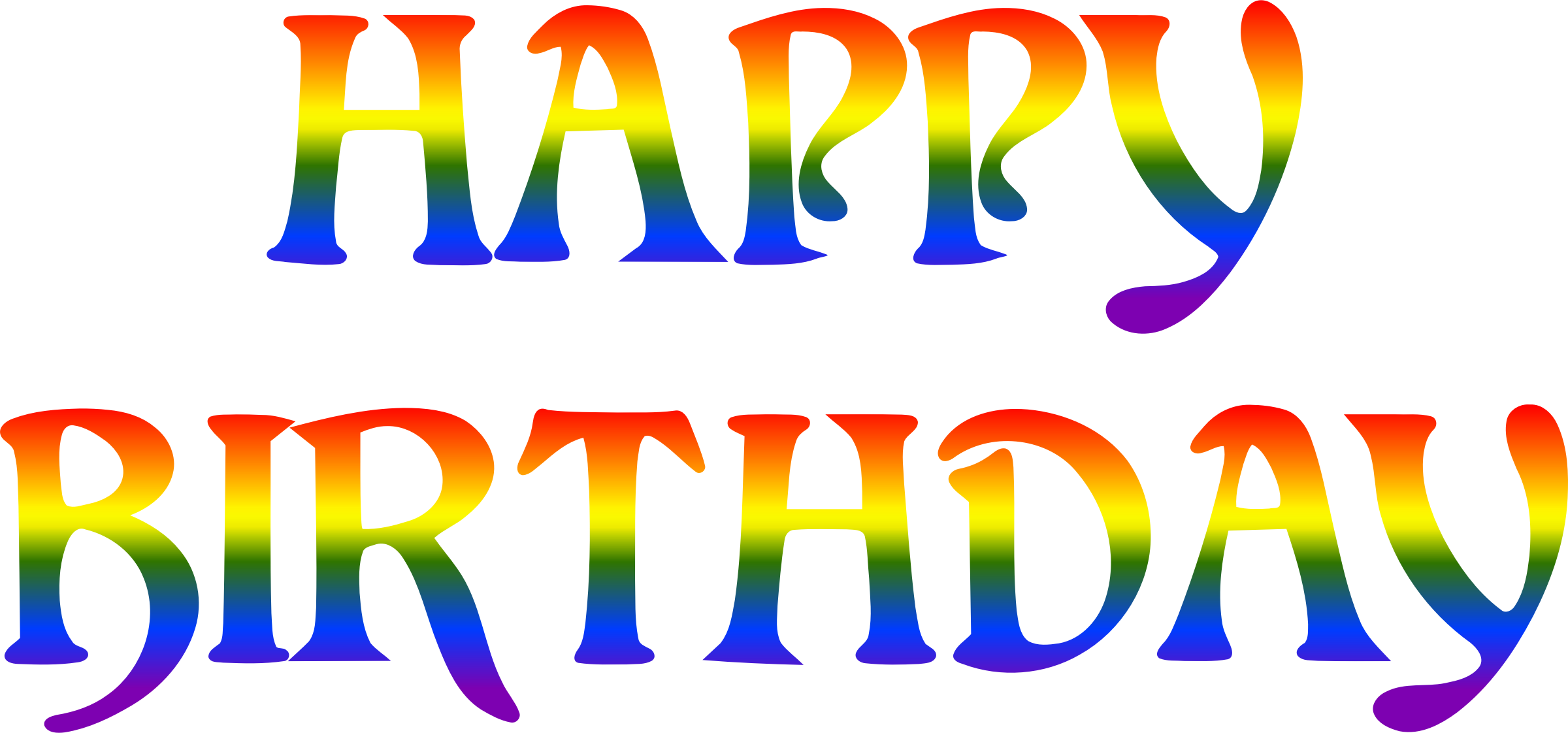 Happy birthday rainbow typography by Firkin