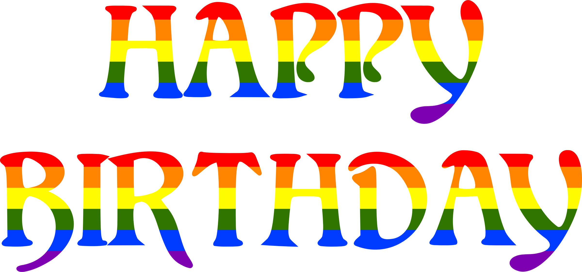 Happy birthday rainbow typography 2 by Firkin