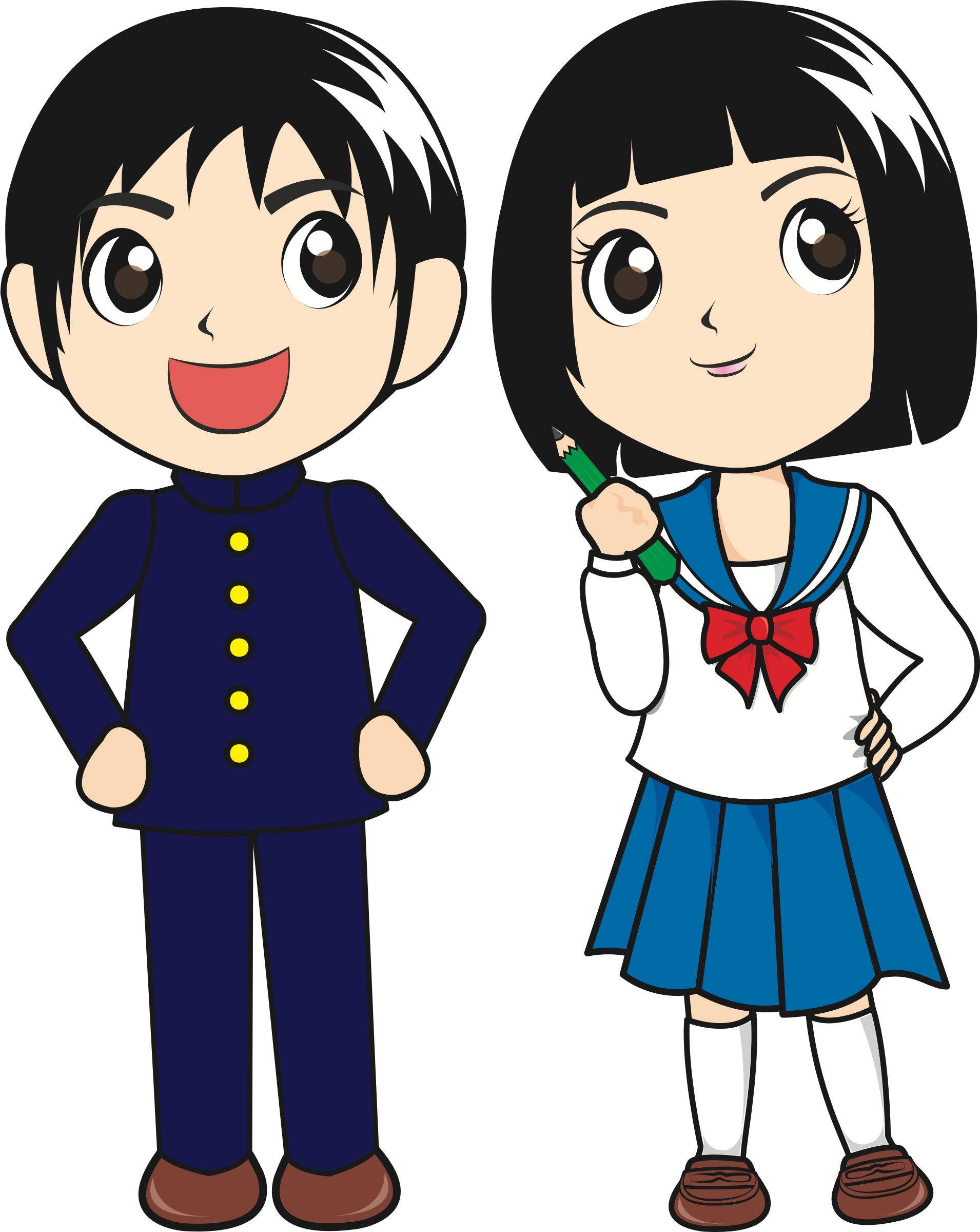 clipart japanese students