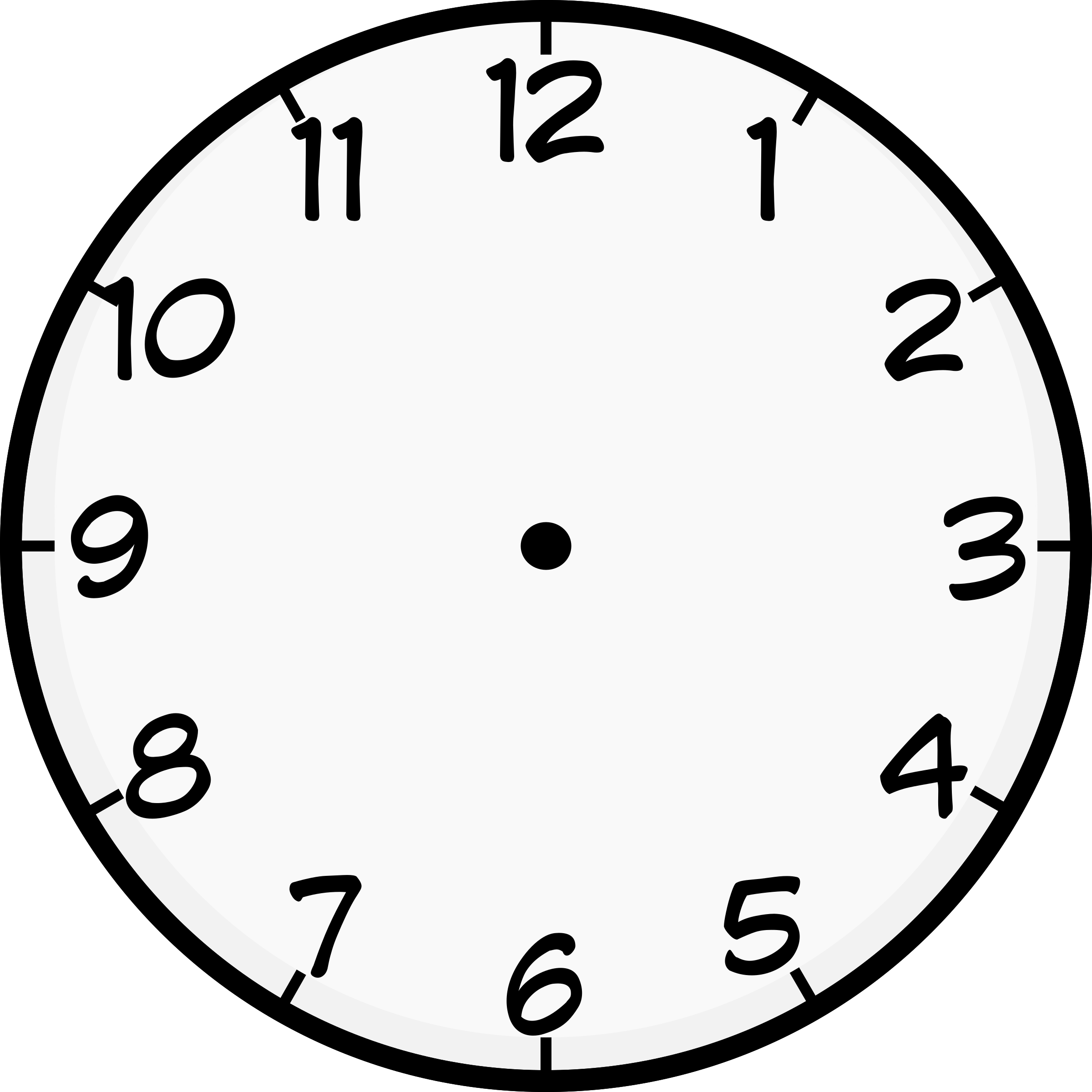 worksheet Face Of A Clock clipart clock face big image png