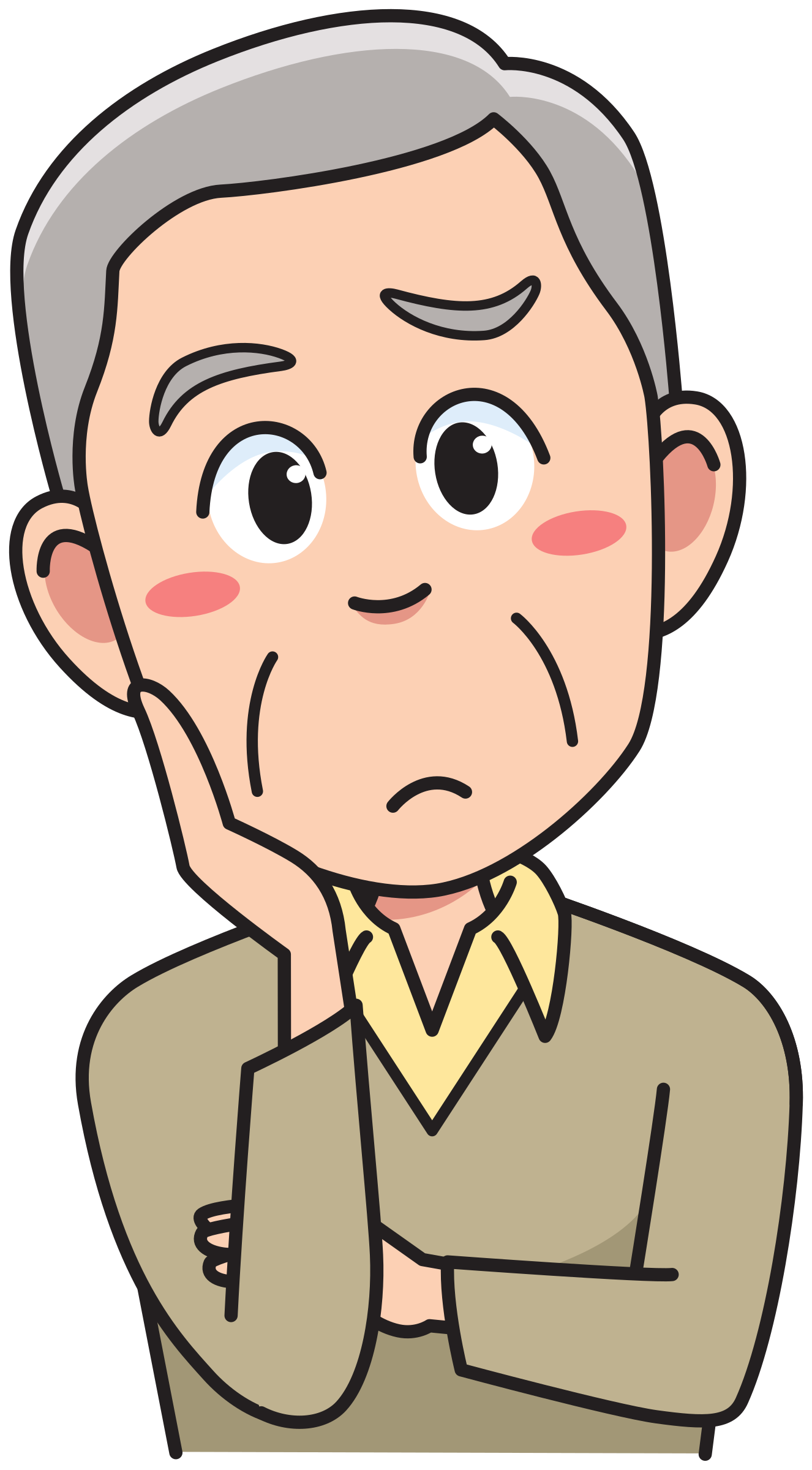 clipart senior man thinking rh openclipart org thinking stick man clipart thinking man clipart