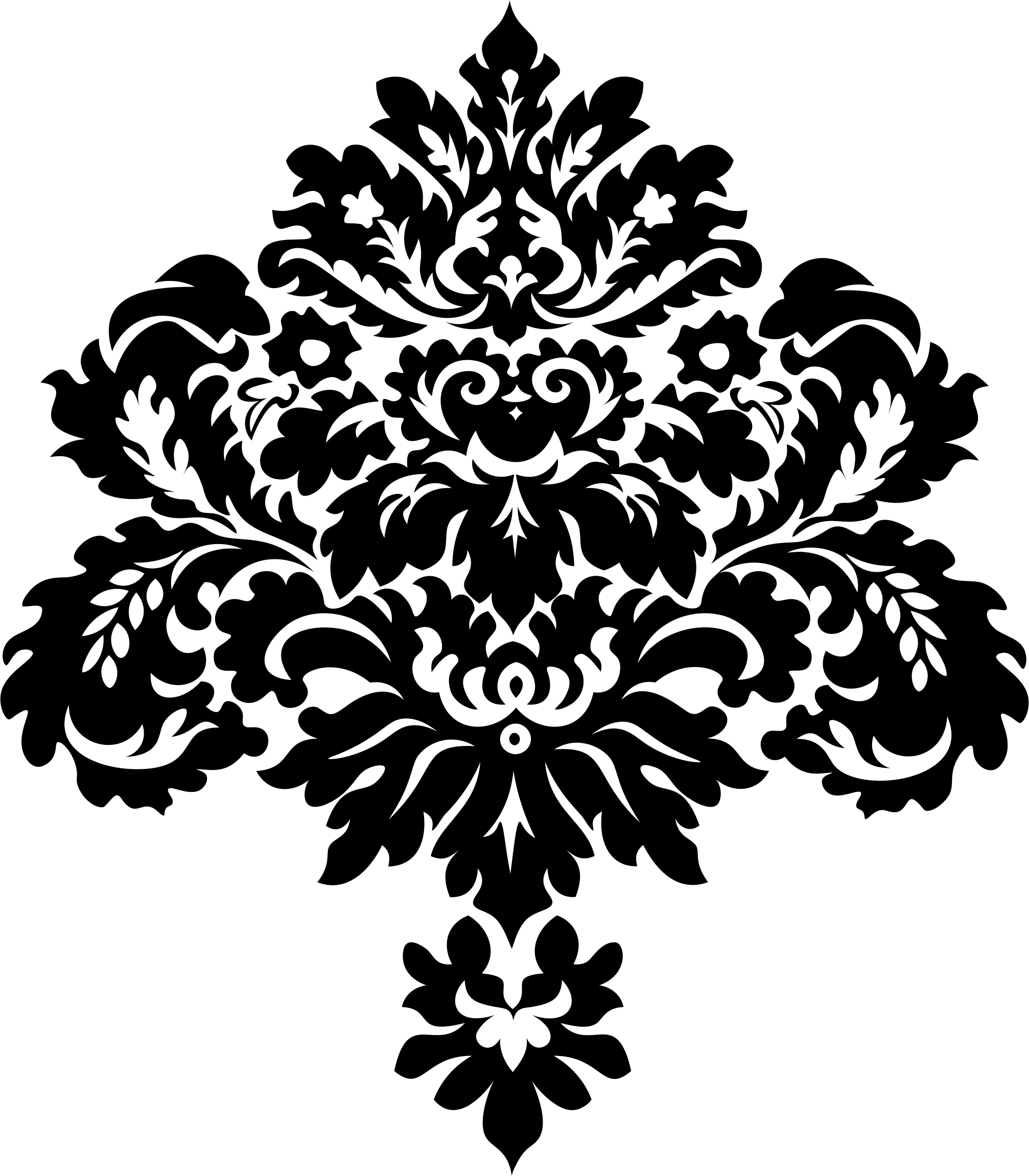 clipart damask design silhouette