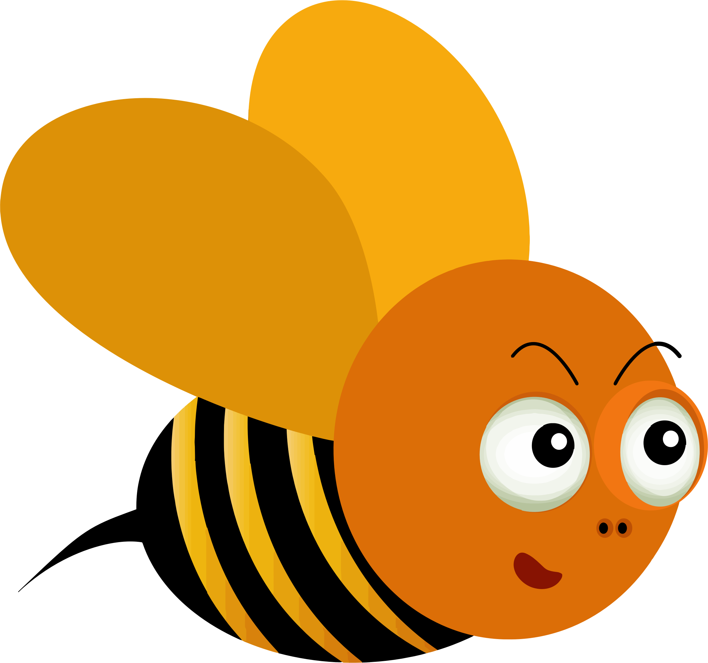 Comic Style Bee Illustration by GDJ