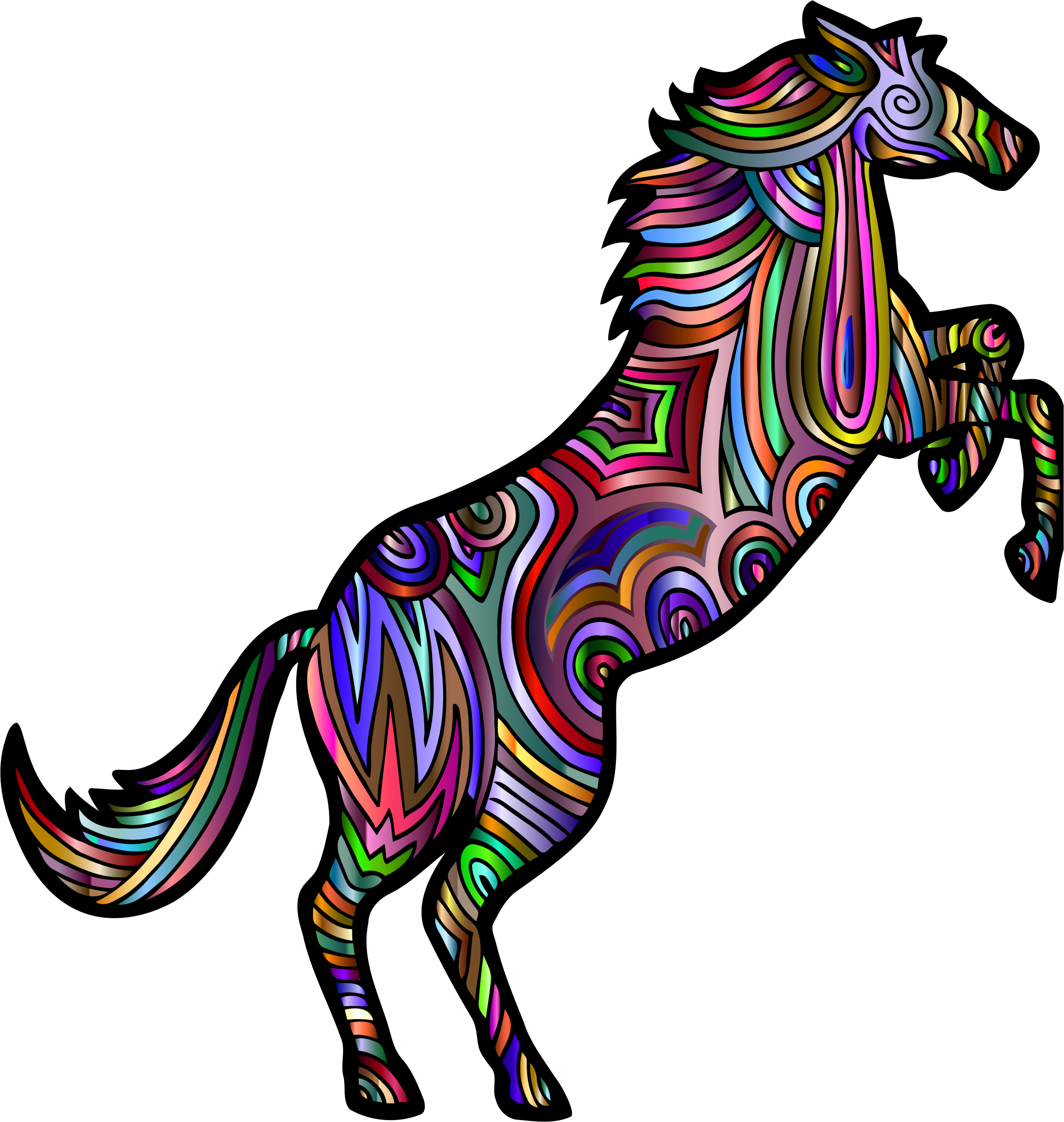 Chromatic Stylized Horse 2 by GDJ