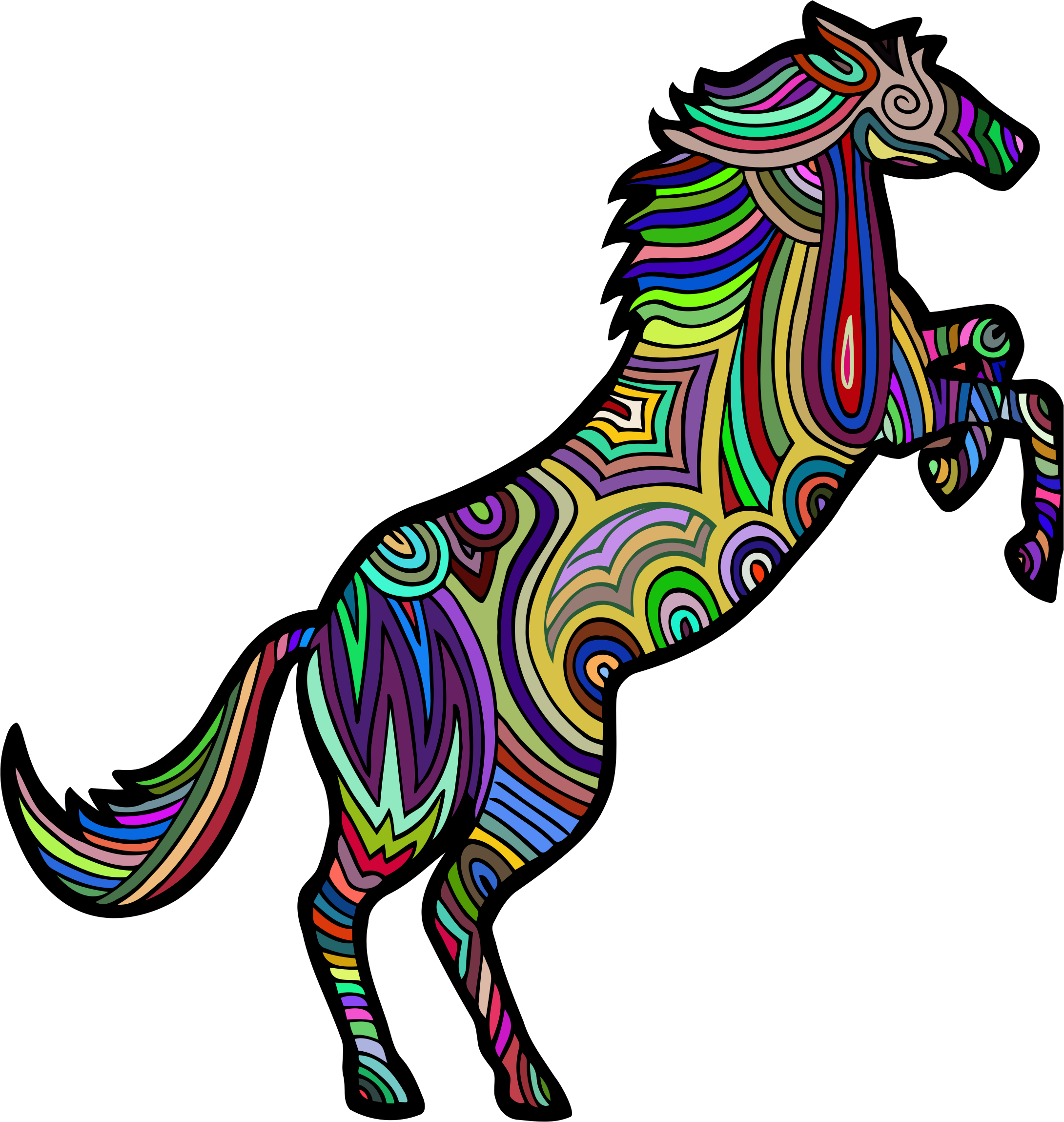 Chromatic Stylized Horse 3 by GDJ