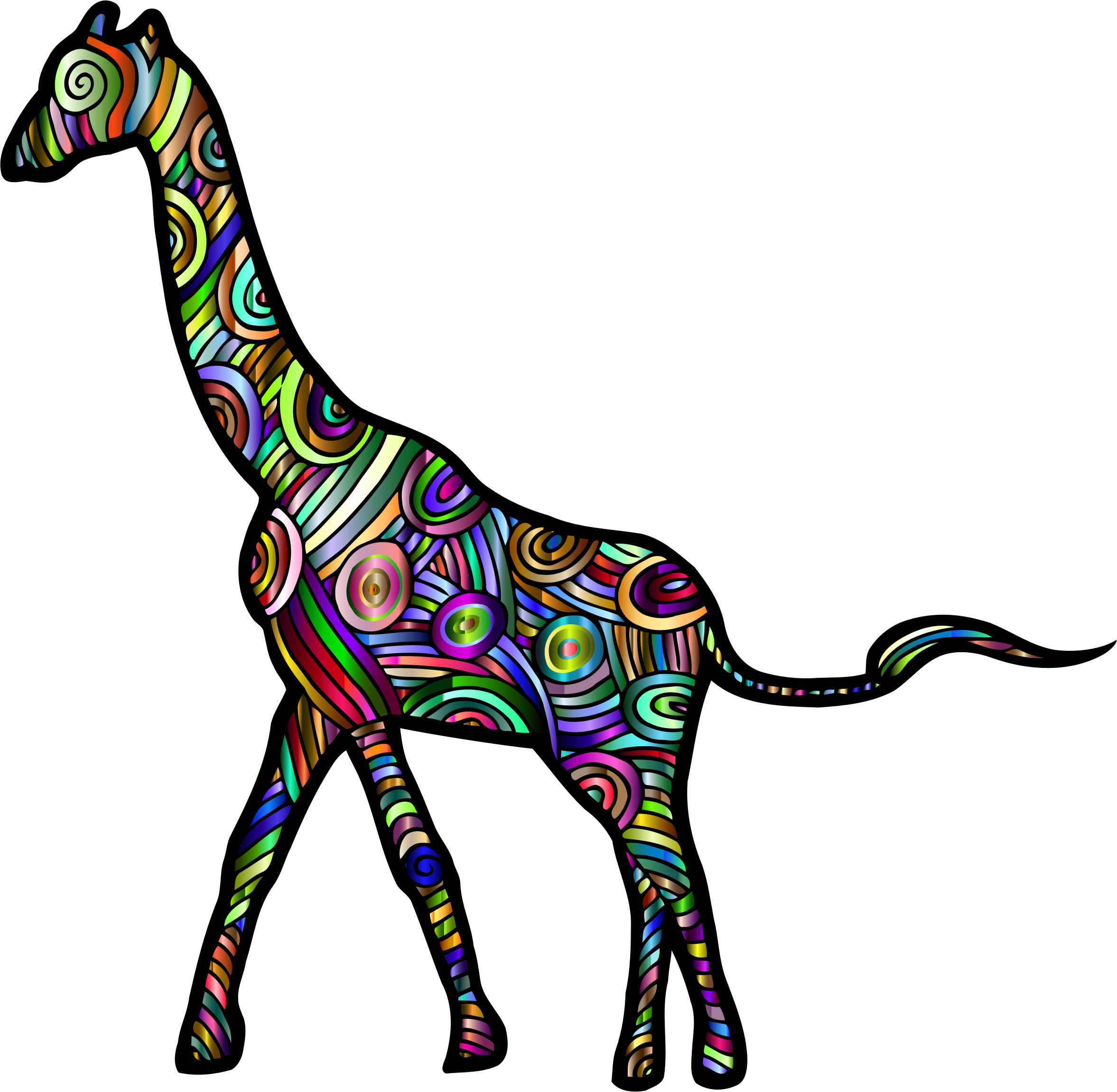 Chromatic Stylized Giraffe 2 by GDJ