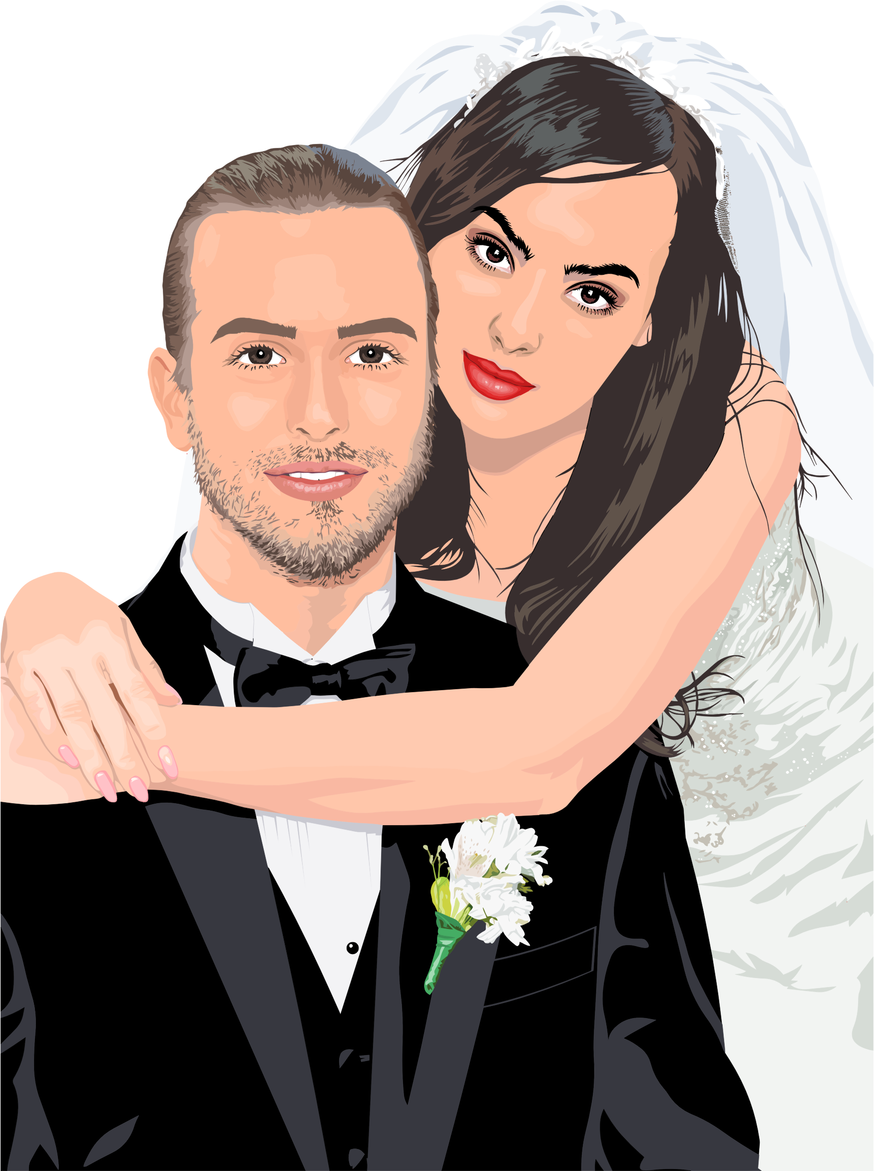 Bride And Groom Wedding Portrait By Heblo by GDJ
