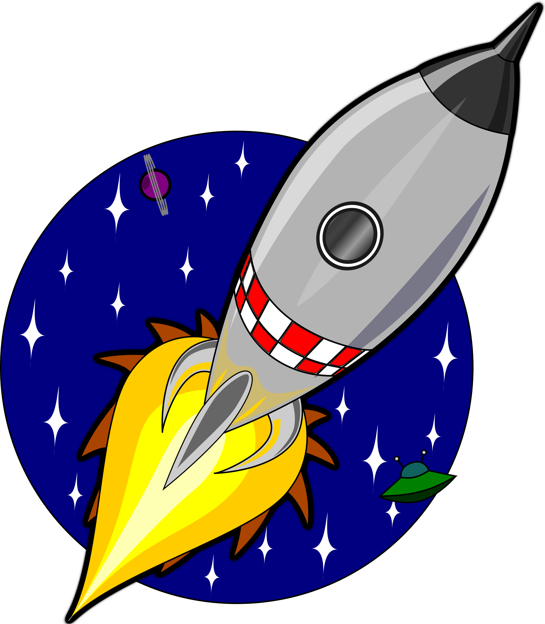 Cartoon rocket by Kliponius