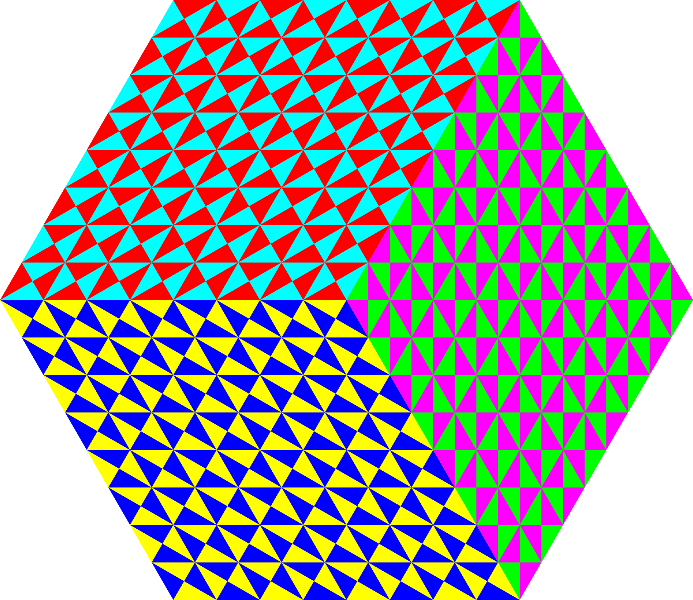 remix of 8-23-2017 triangle design using 6 colors by 10binary