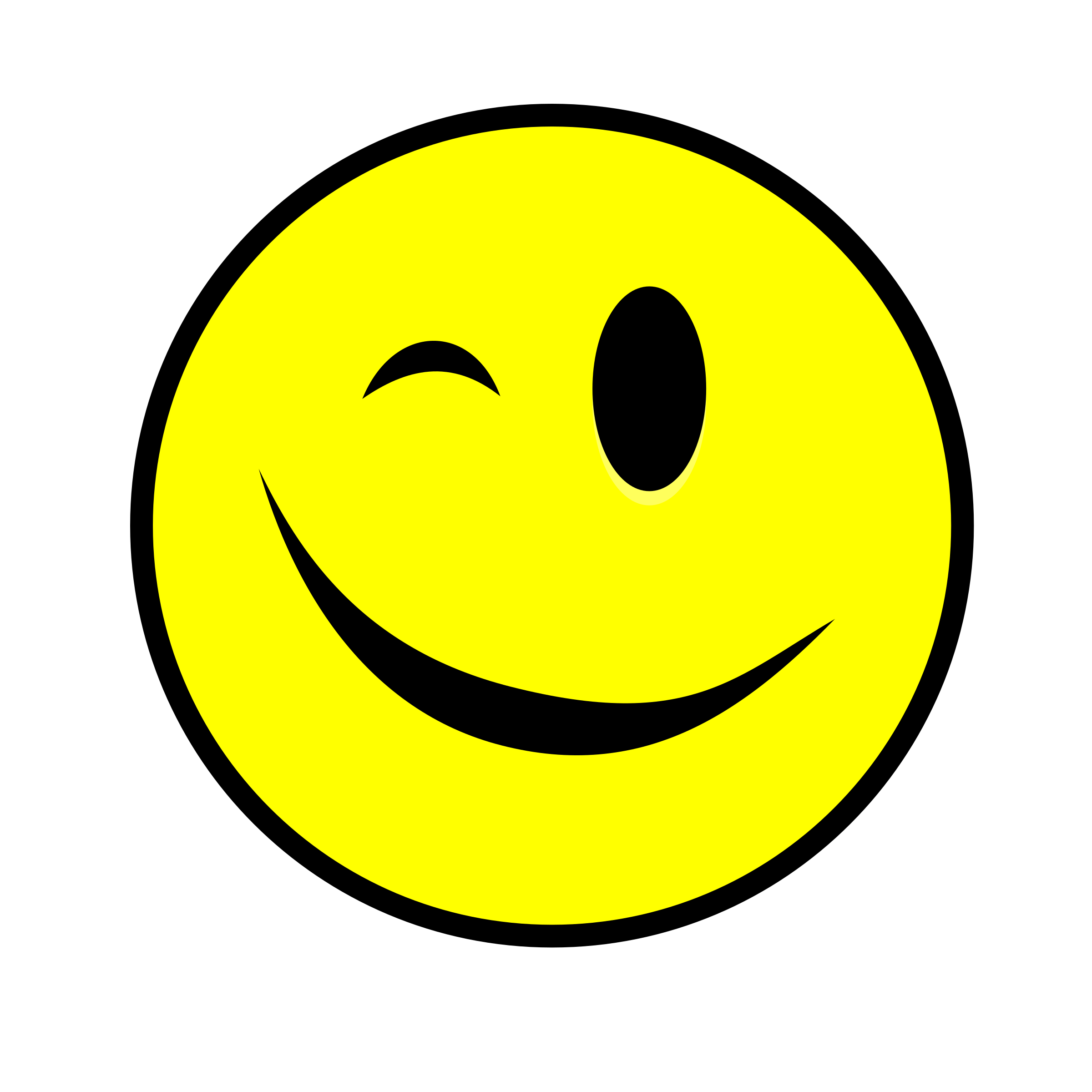 Winking Smiley yellow by Manuela.