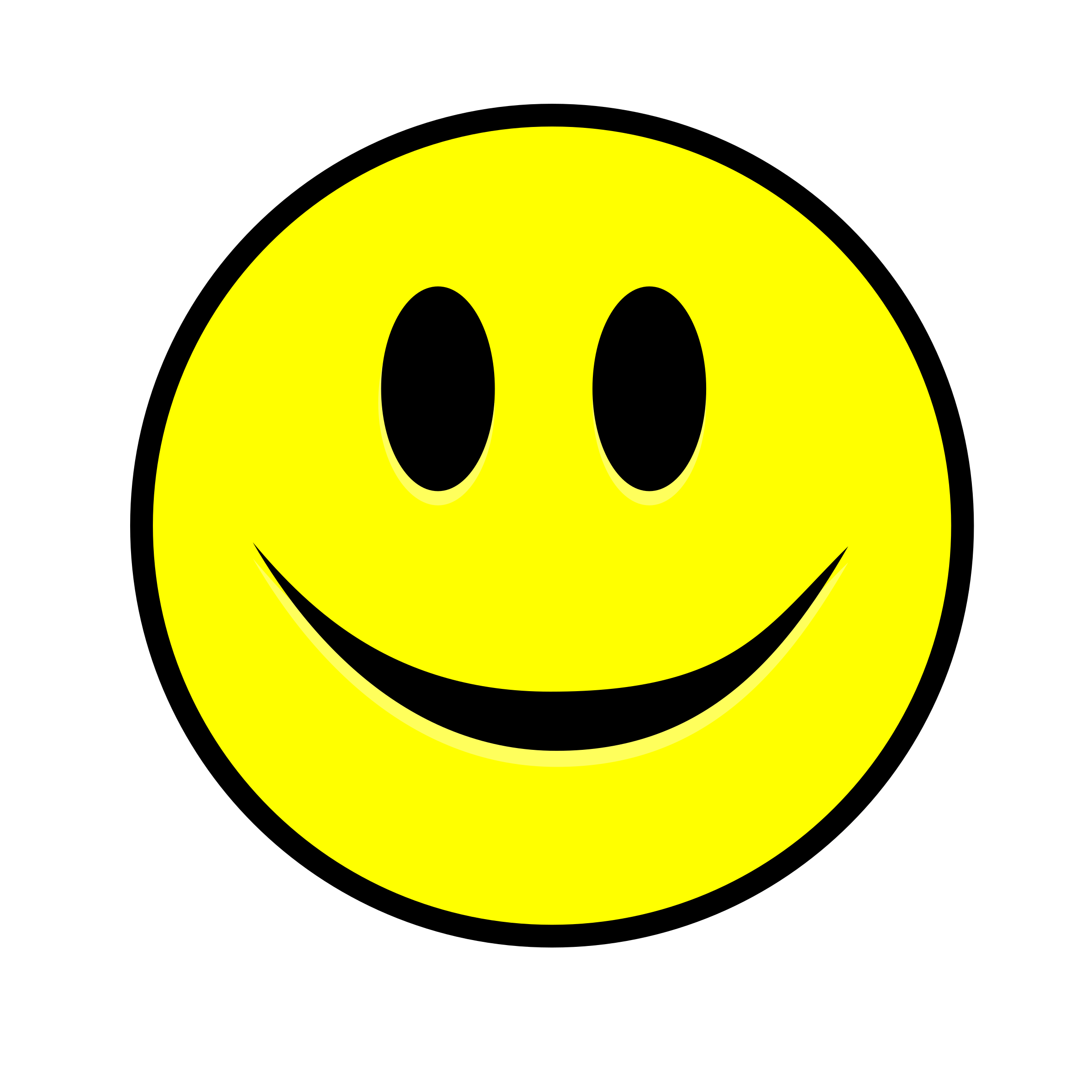 Smiling Smiley simple yellow by Manuela.