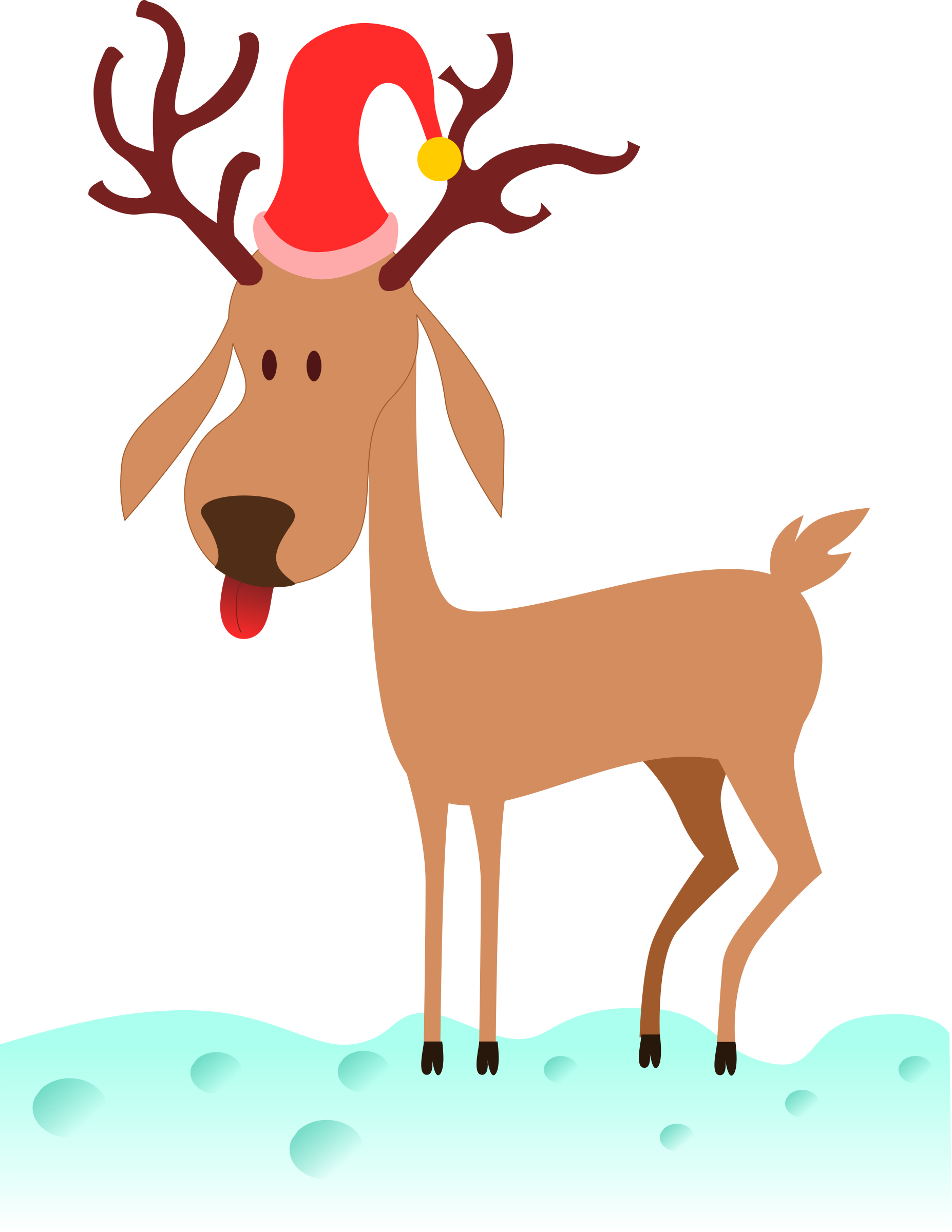 Cartoon Reindeer by kablam