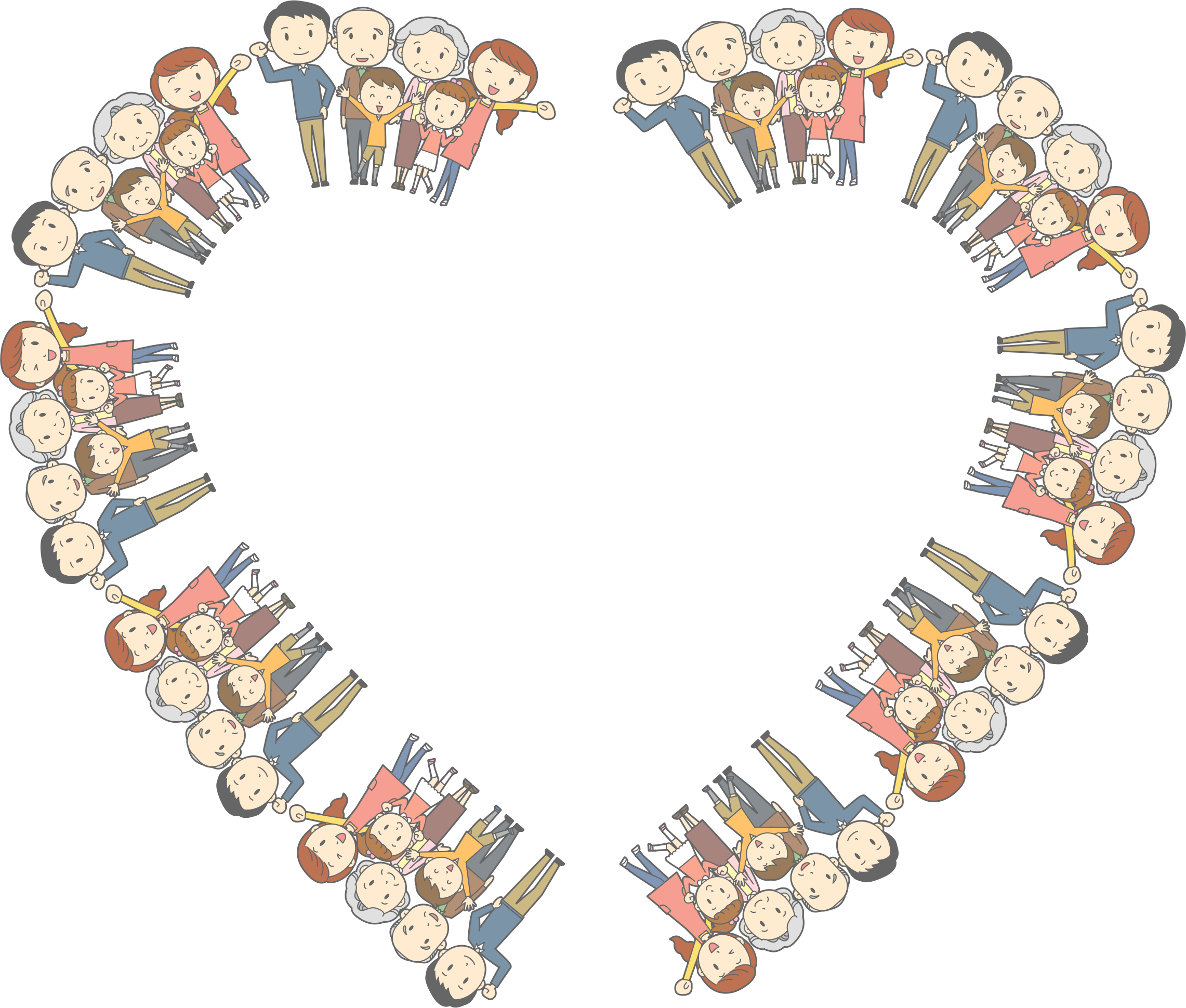 MultiGenerational Family Heart Frame by GDJ