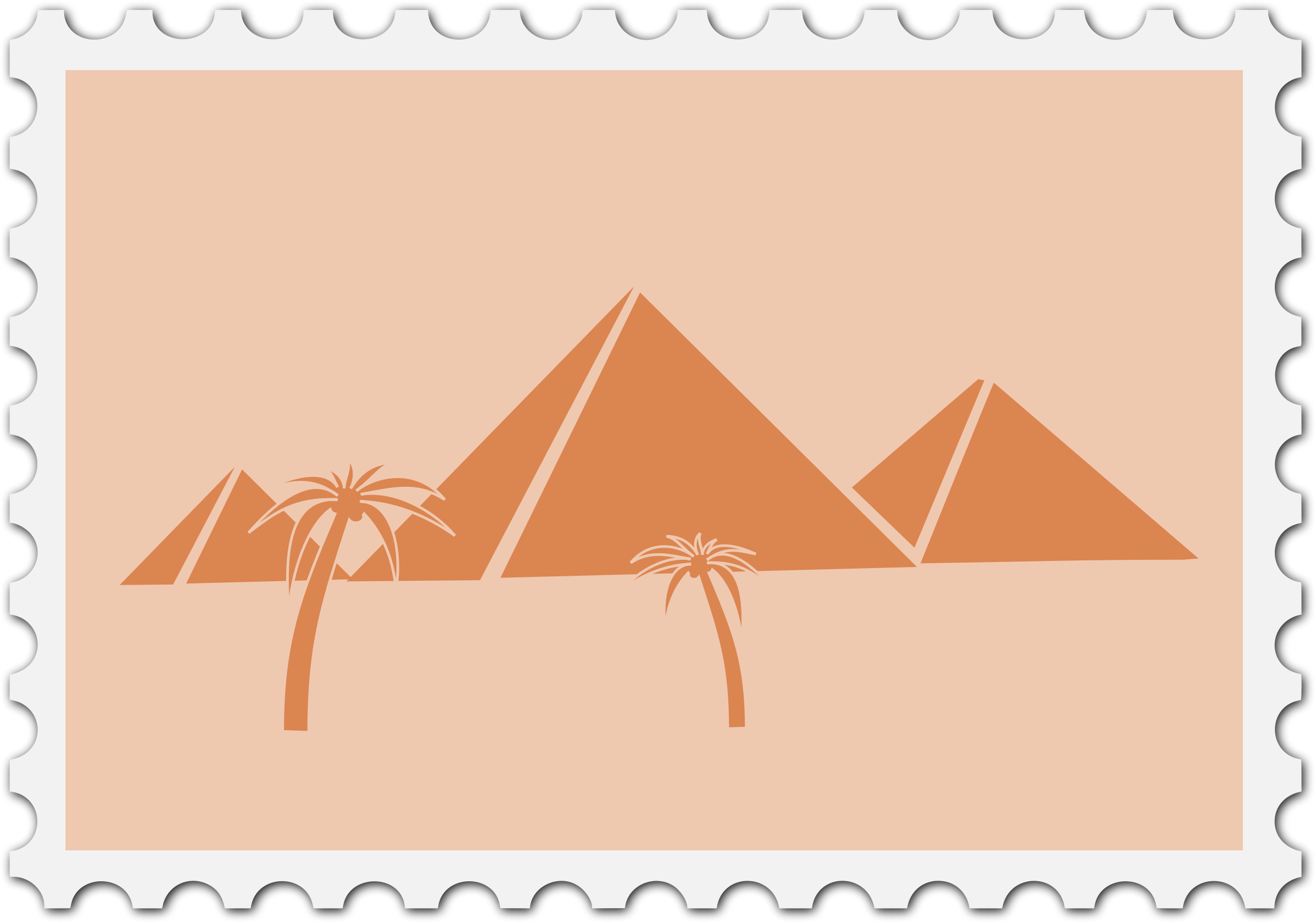 Egyptian stamp by Firkin