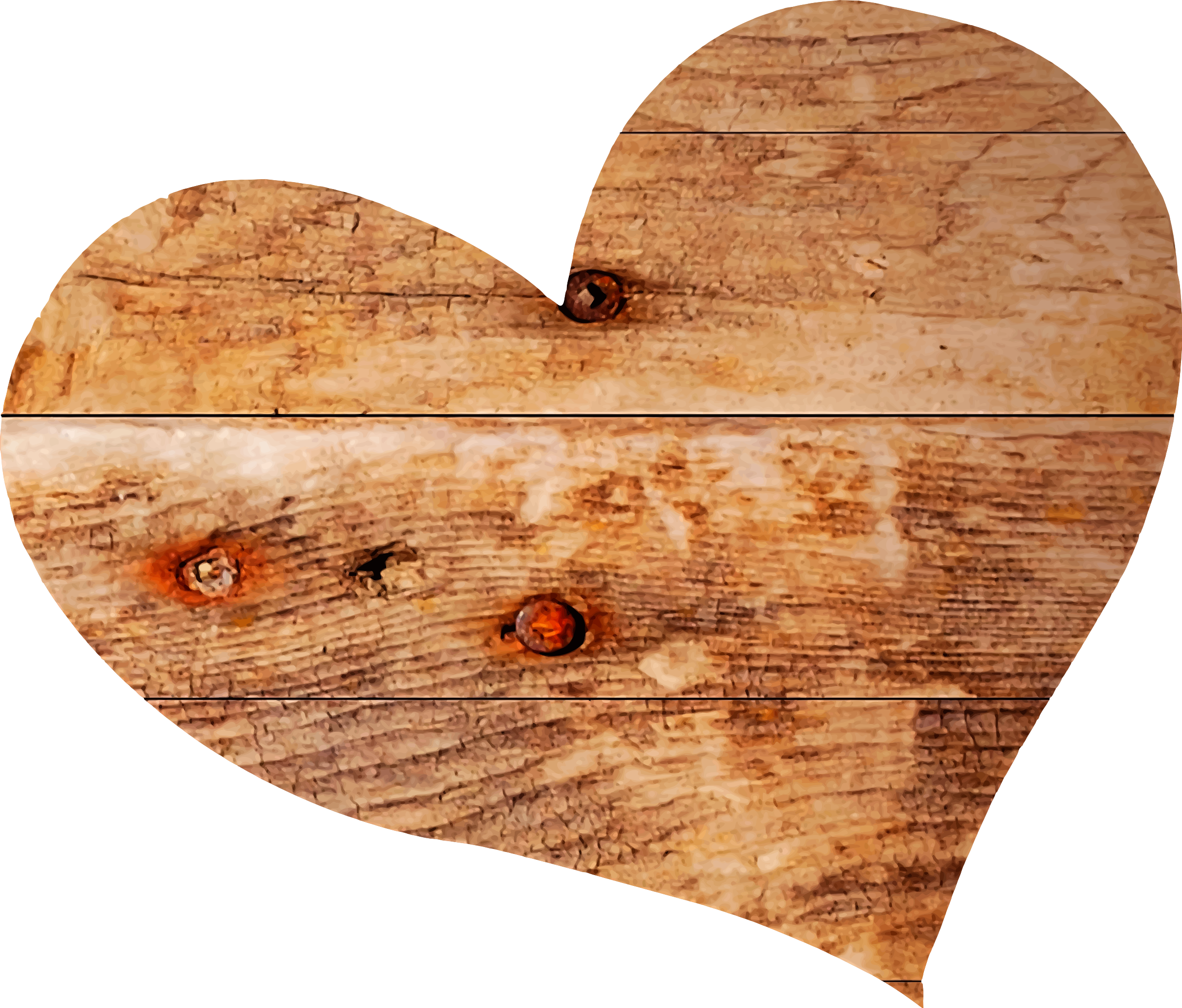 Wooden heart by Firkin