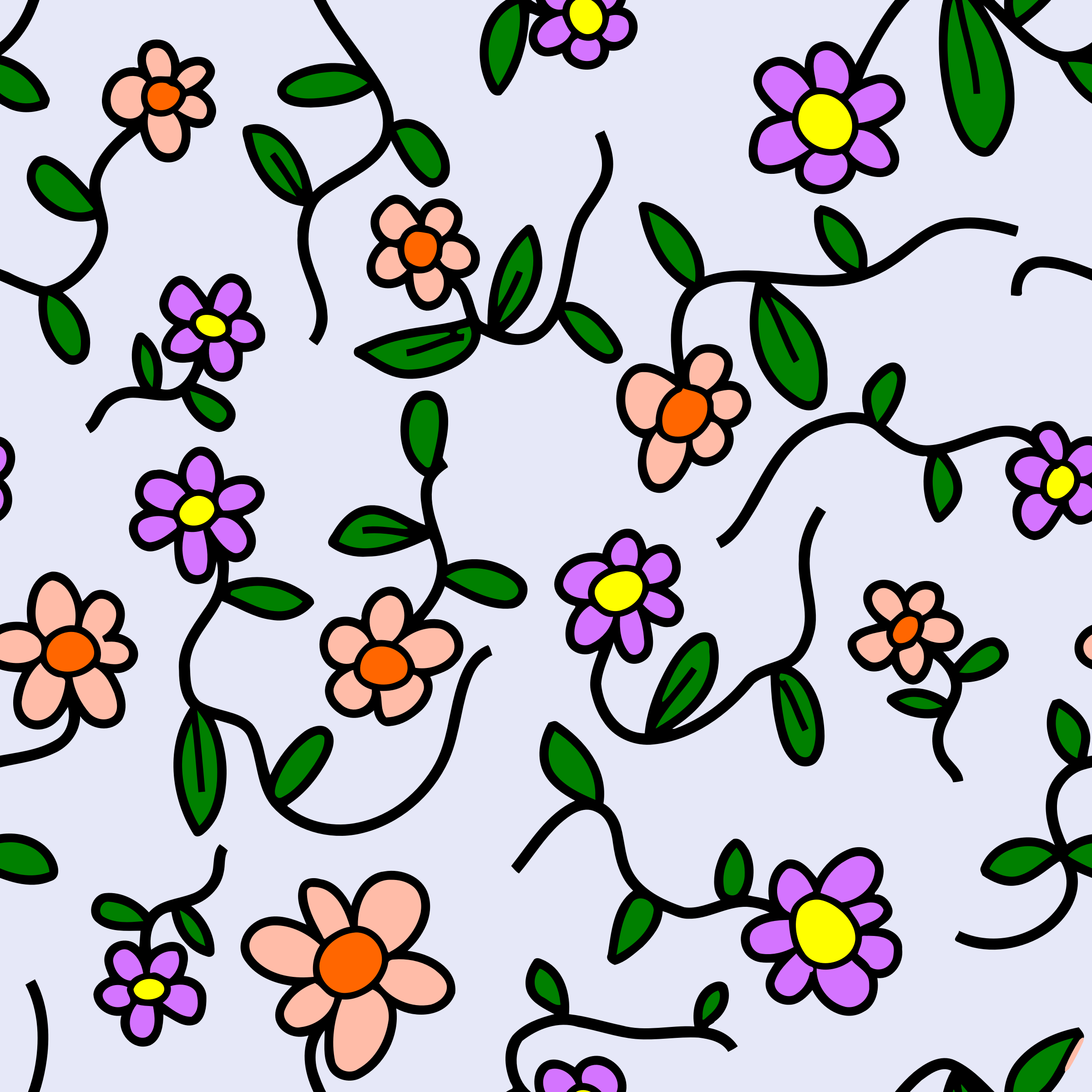 Floral pattern 3 (colour) by Firkin