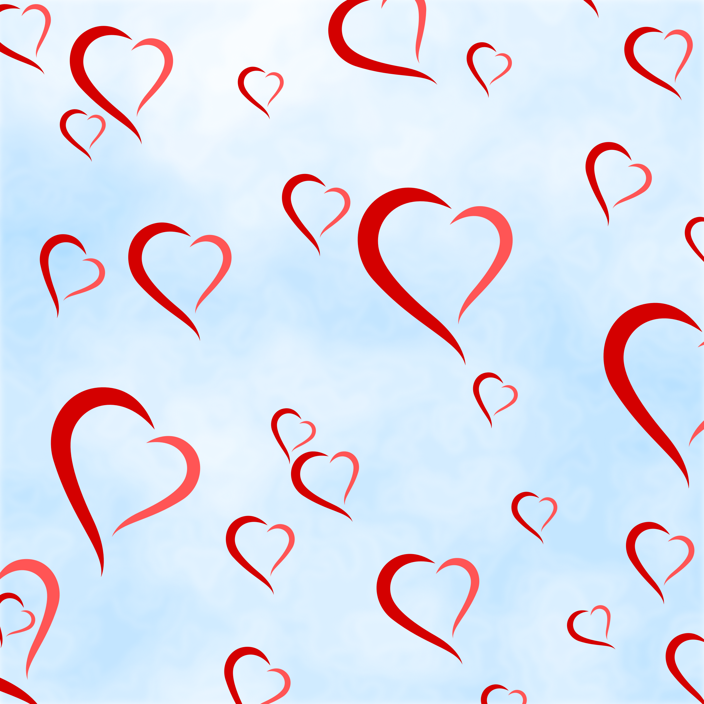 Hearts background by Firkin