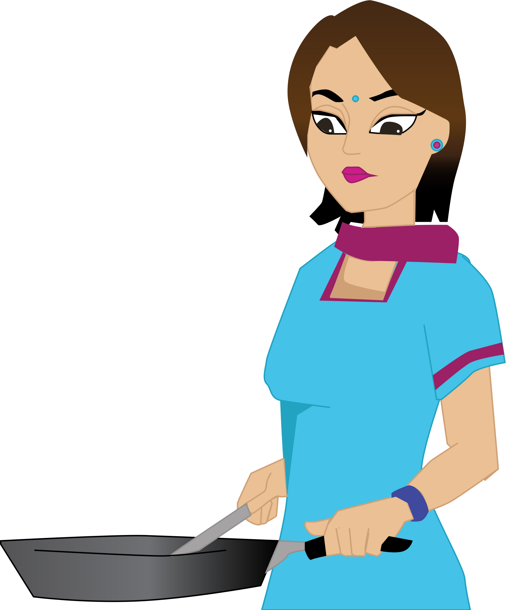 Woman cooking by snoopingasusual