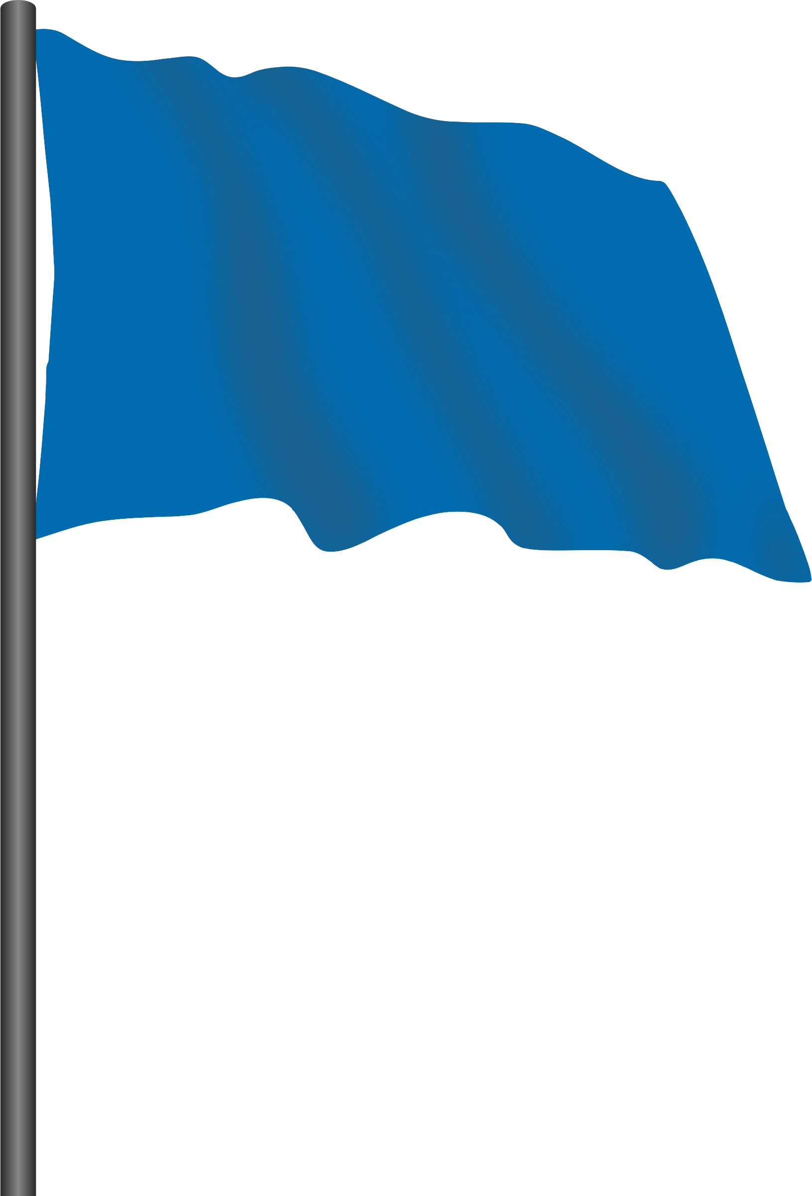 Motor racing flag 6 - blue flag by Firkin
