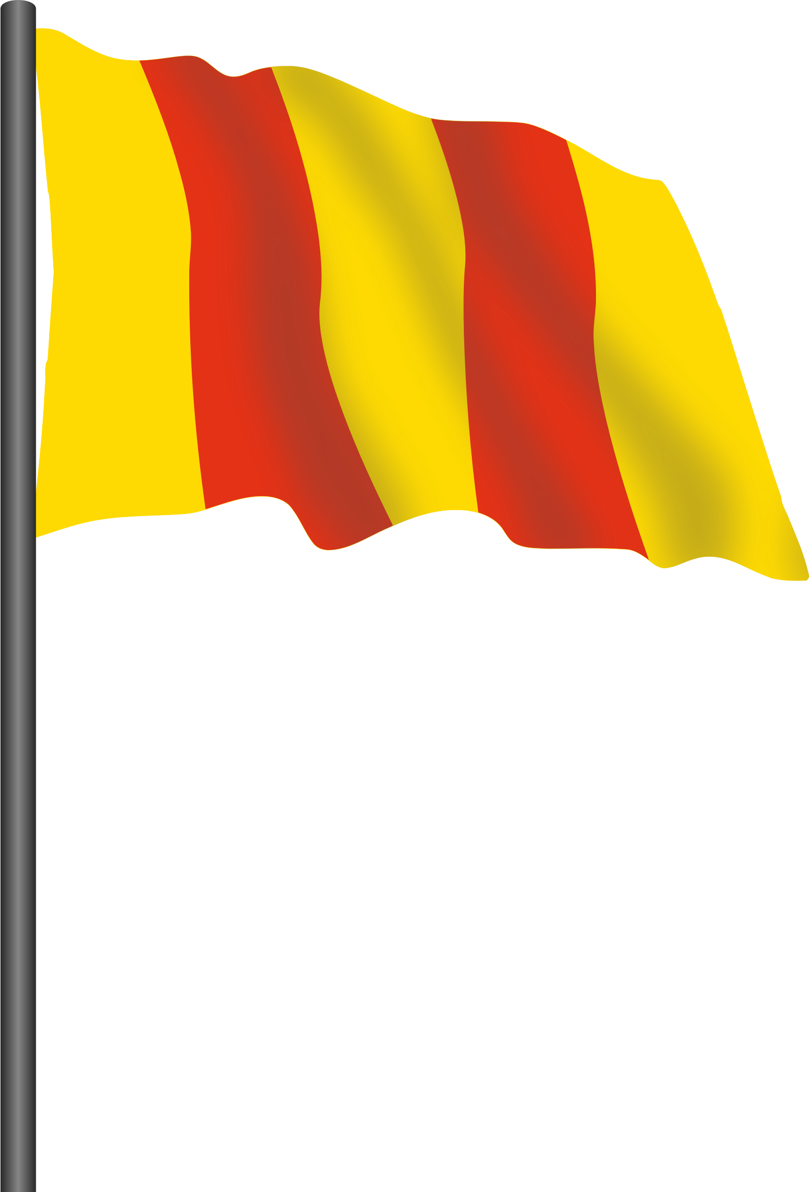 Motor racing flag 8 - red and yellow flag by Firkin