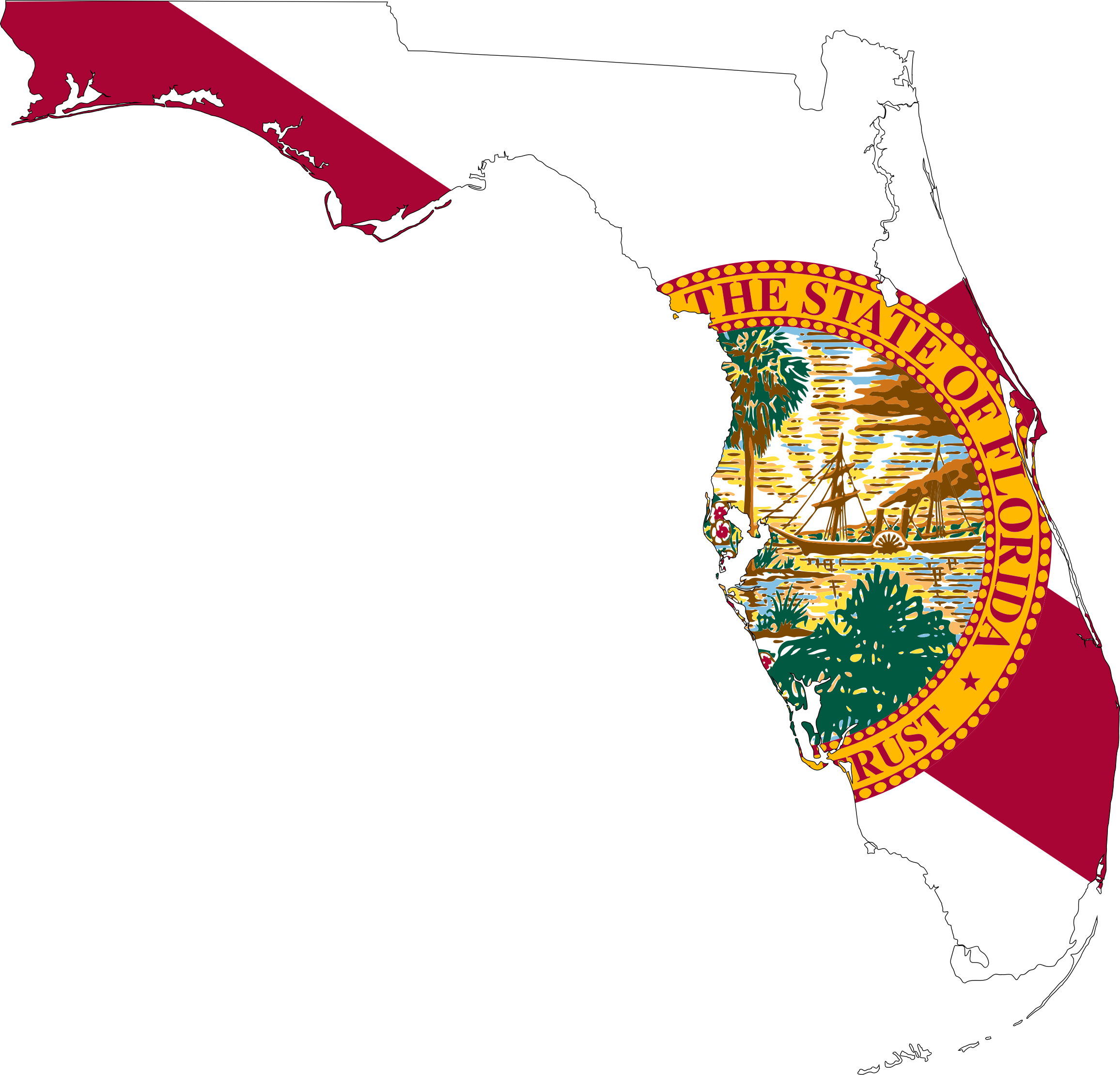 Florida Map Flag by GDJ