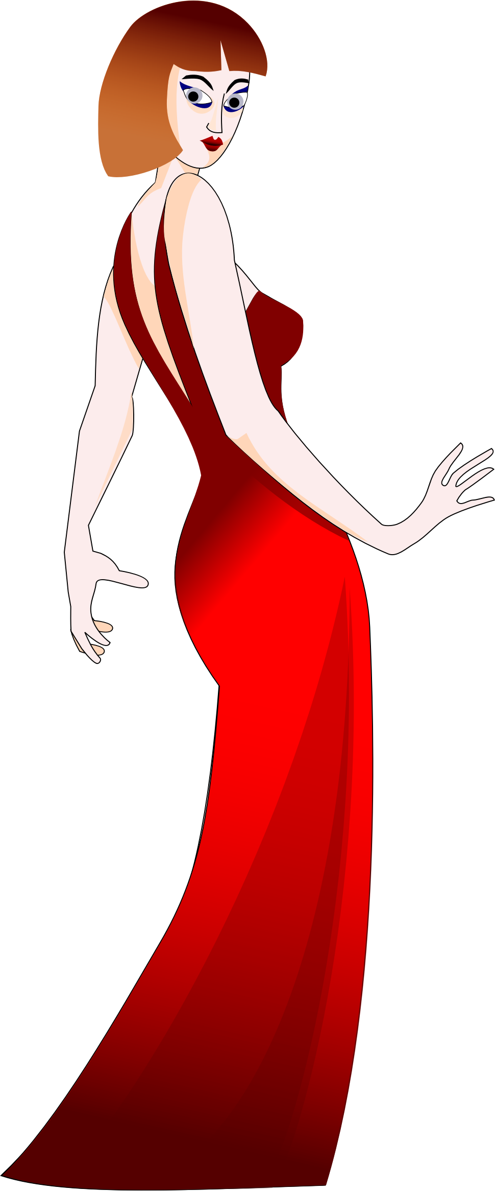 Woman In Red Dress by GDJ