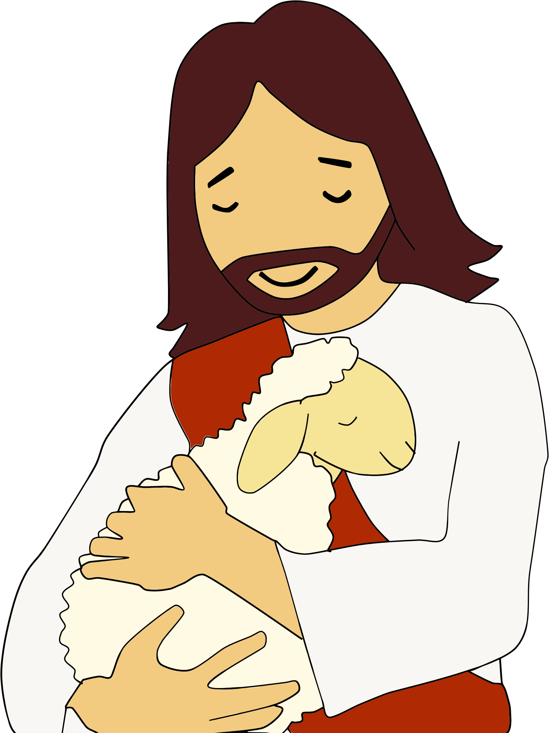 Clipart Jesus Christ And Lamb